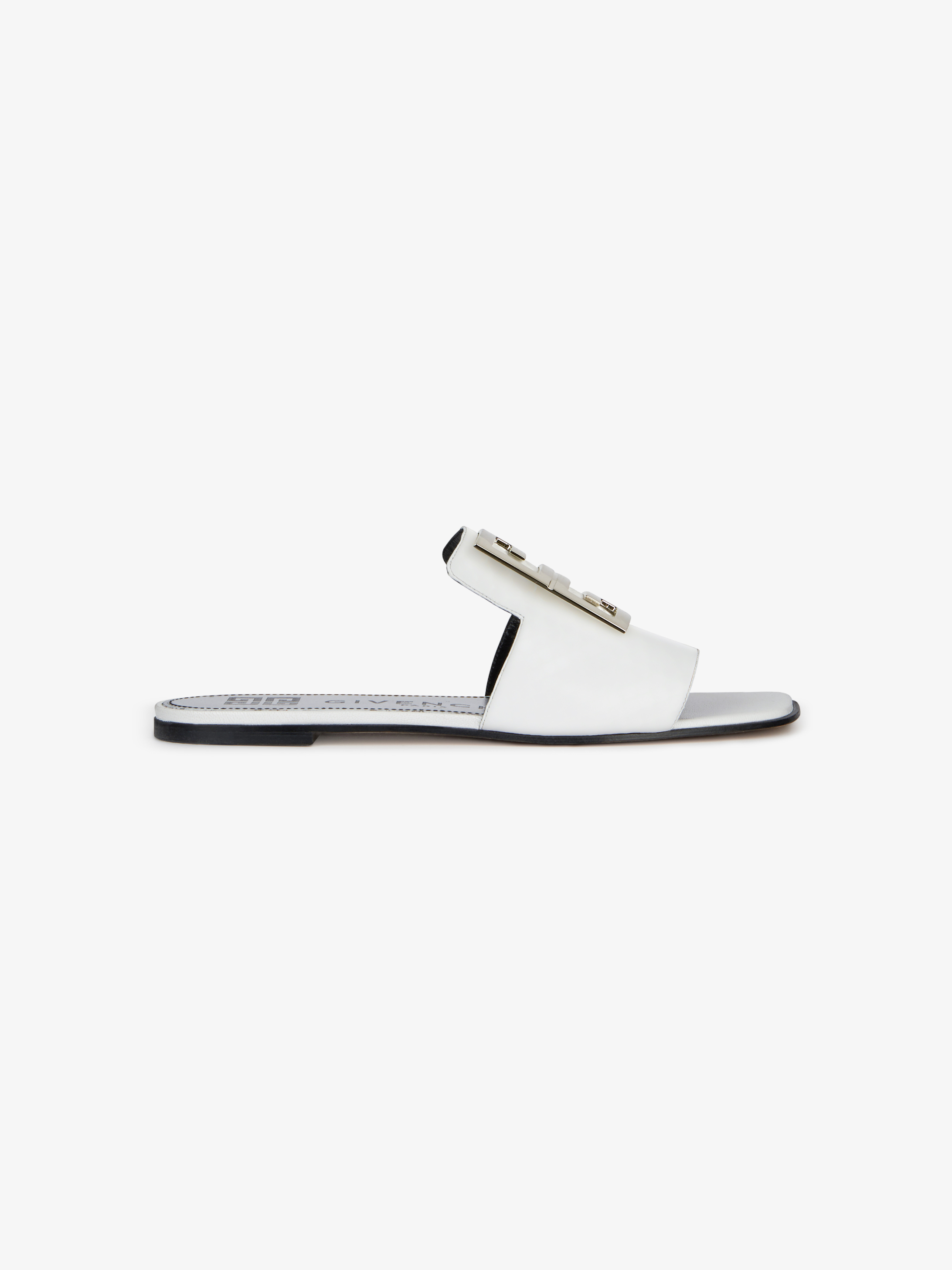 4G sandals in grained leather