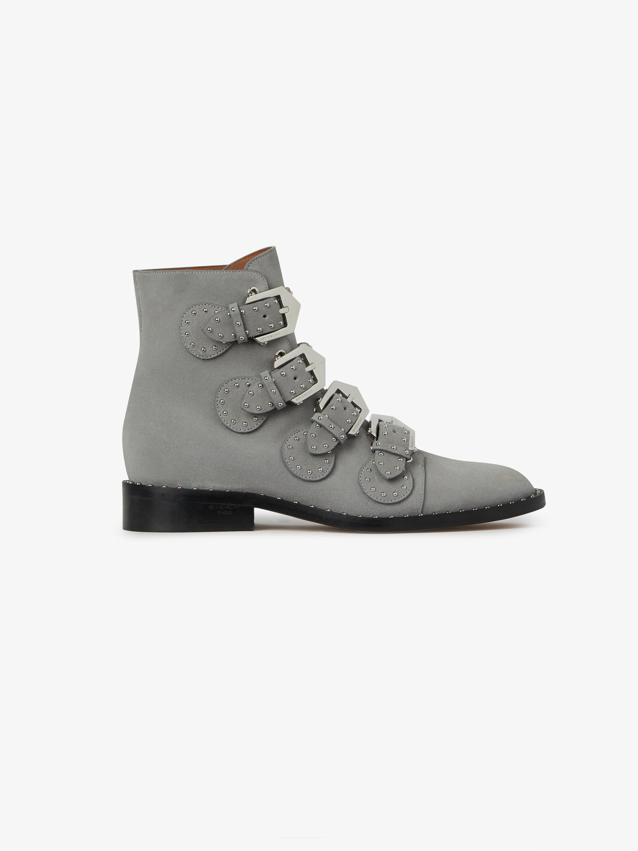 Elegant Studs flat ankle boots