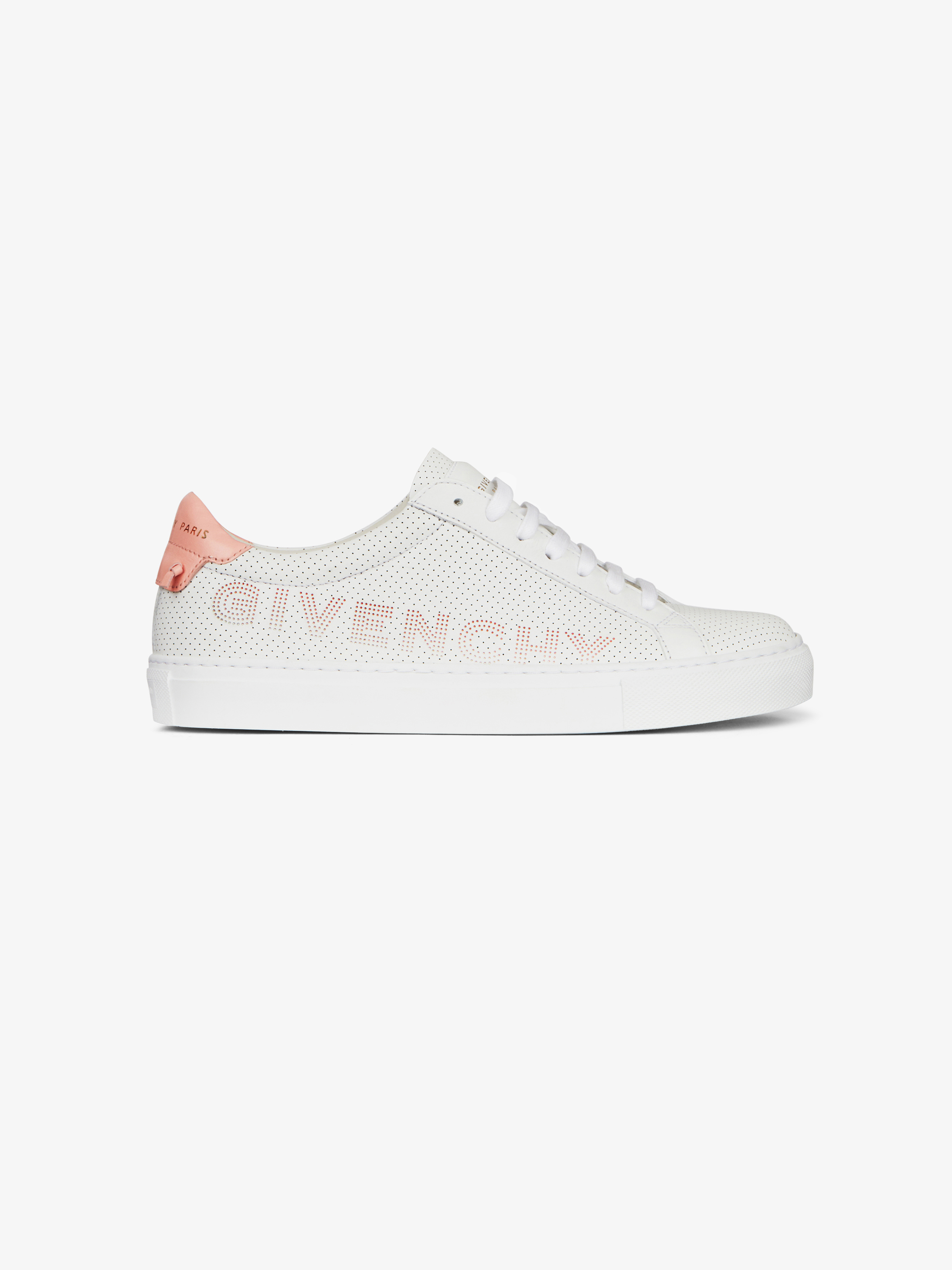 Sneakers in perforated leather