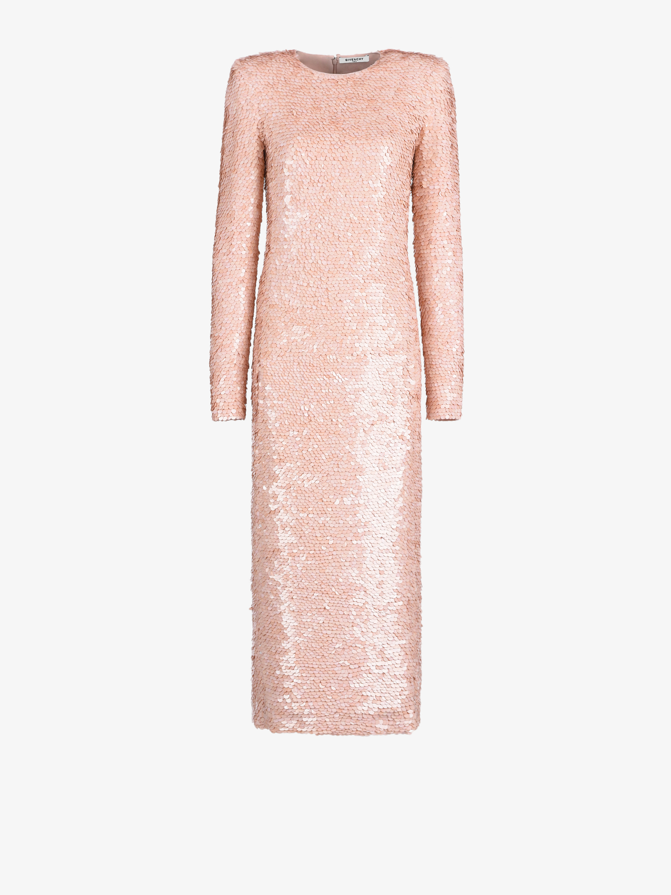 Long sequins embroidered dress