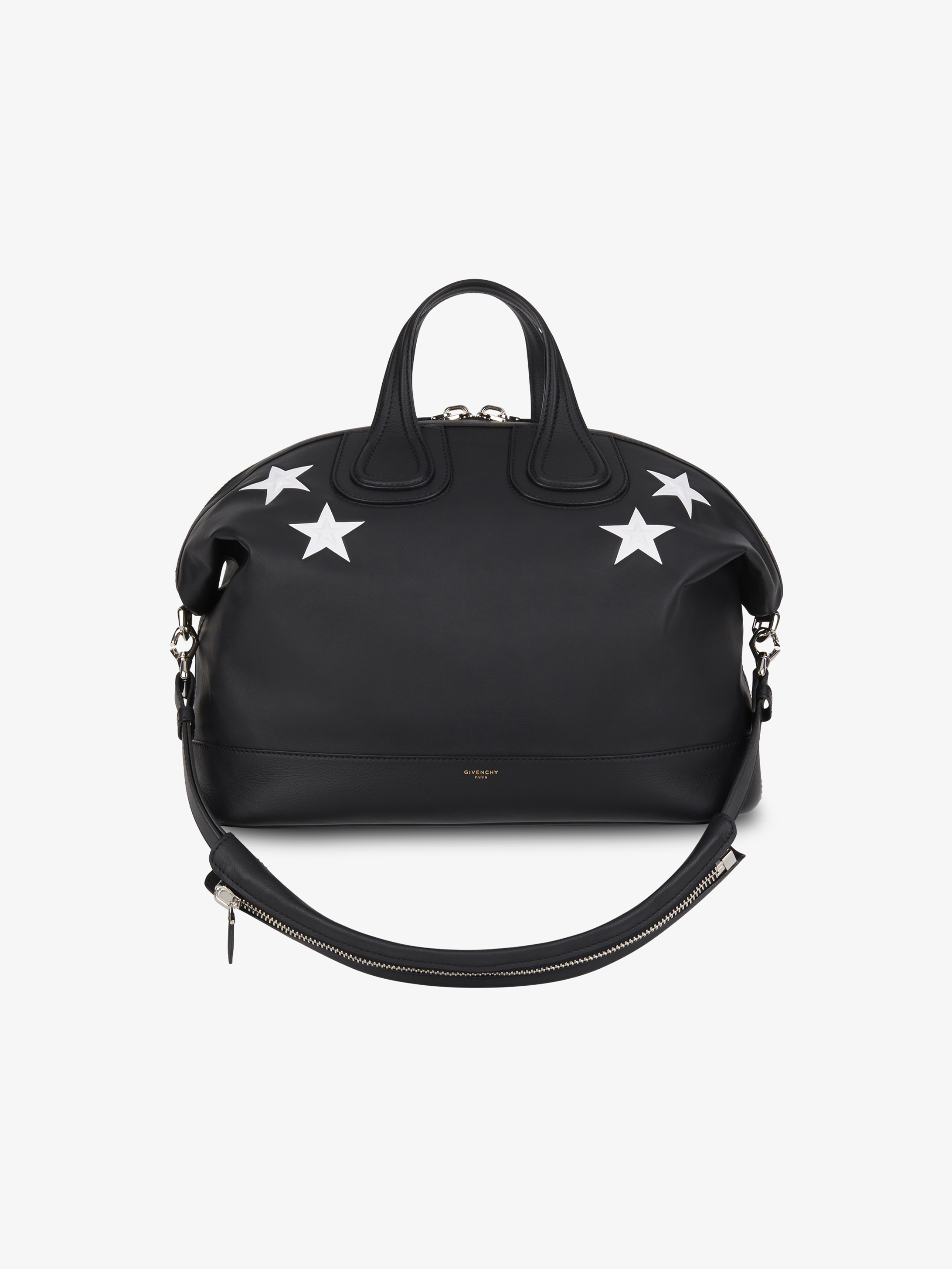 Contrasted stars Nightingale top handle bag
