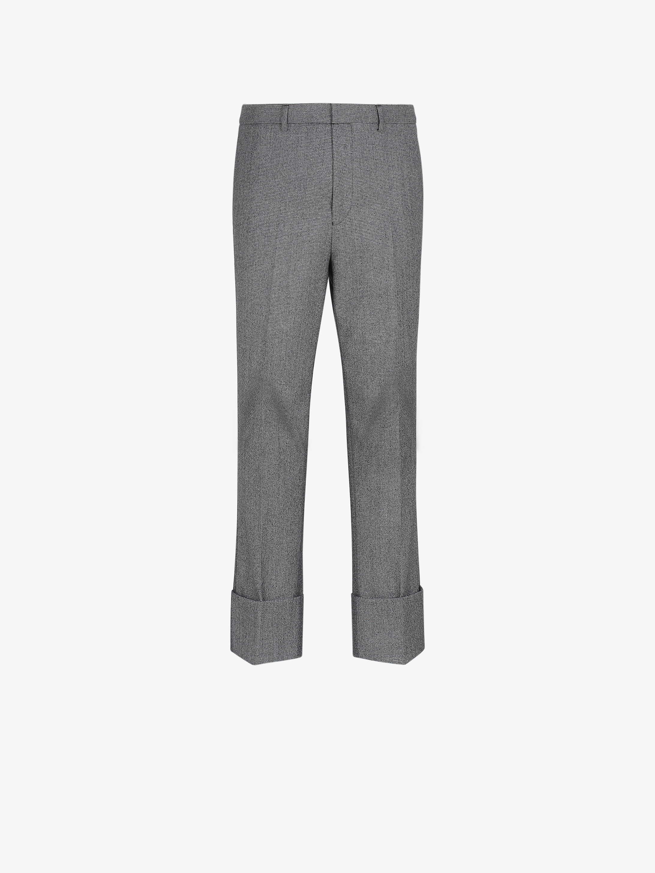 Pantalon slim bimatière à revers