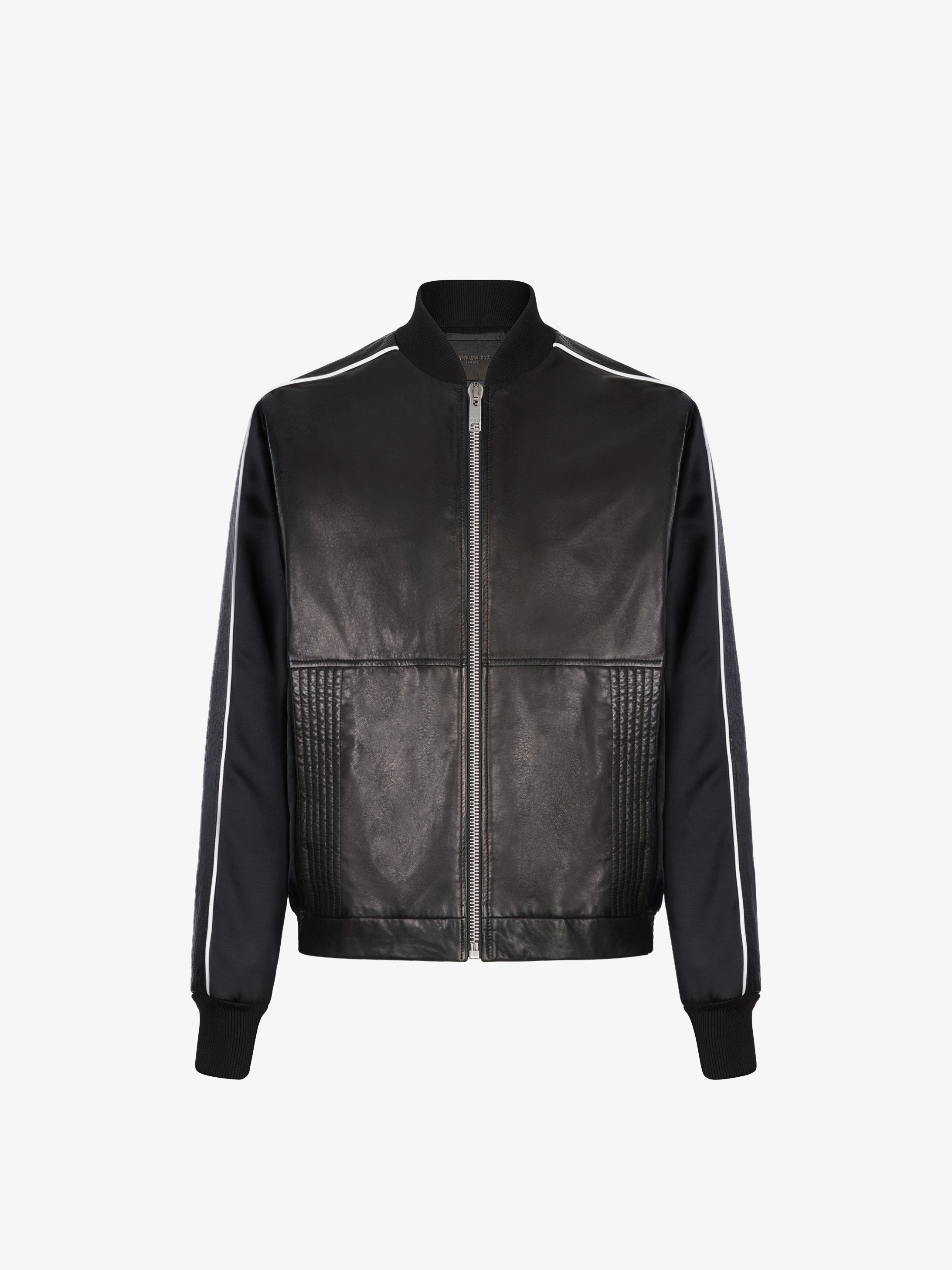 GIVENCHY bomber in leather and satin