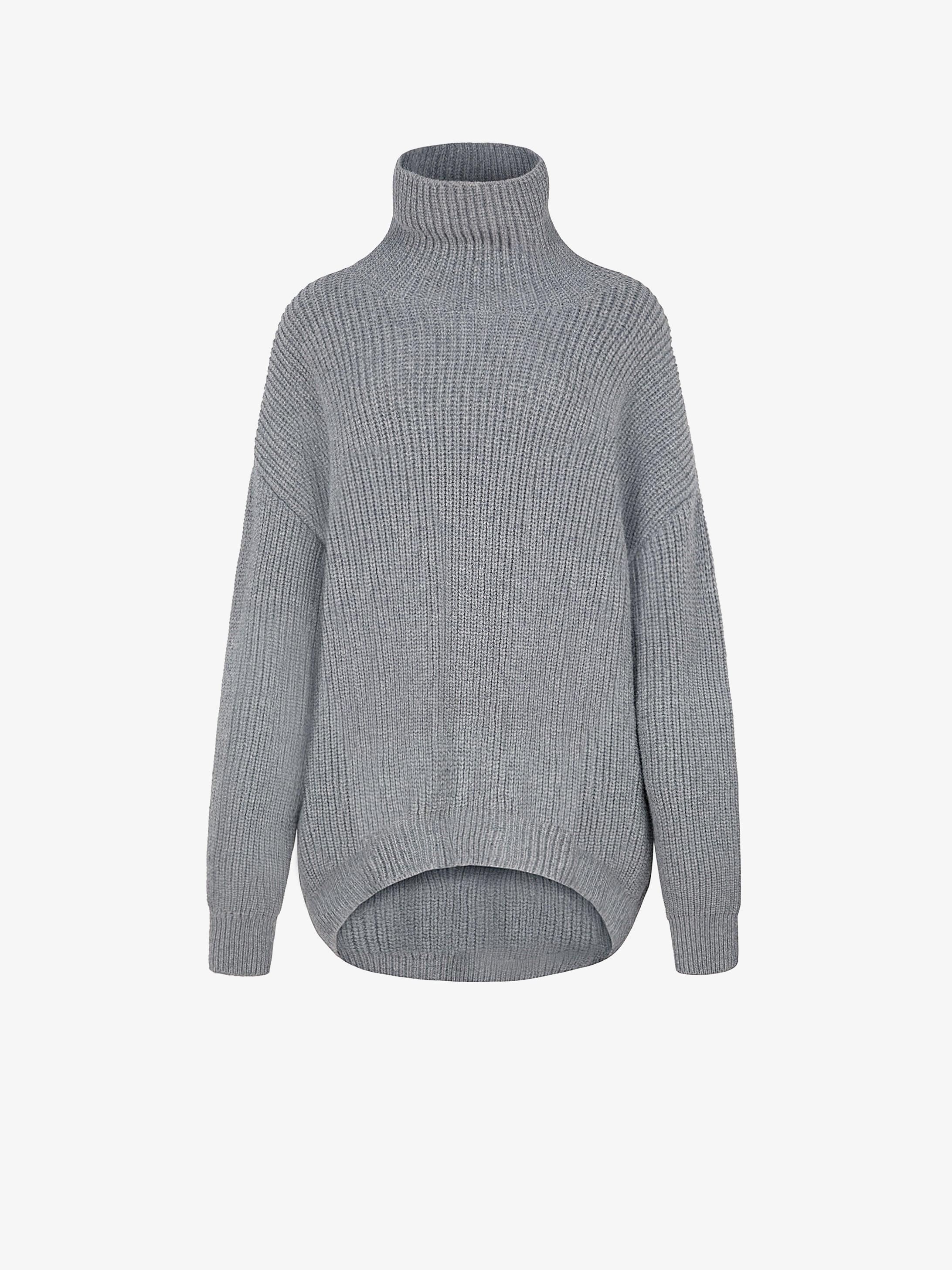 羊驼毛羊毛超大针织衫
