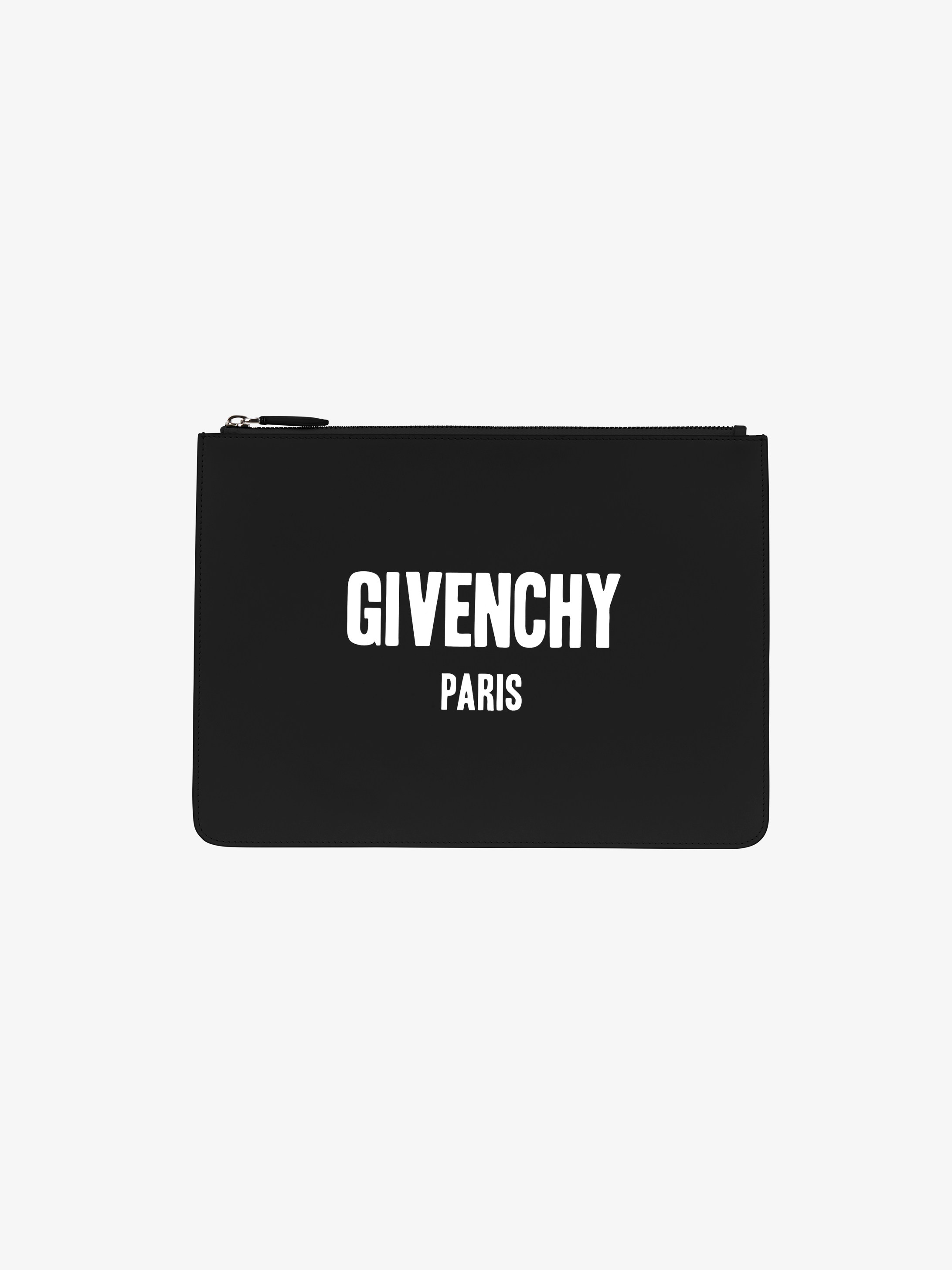 GIVENCHY PARIS printed pouch in leather