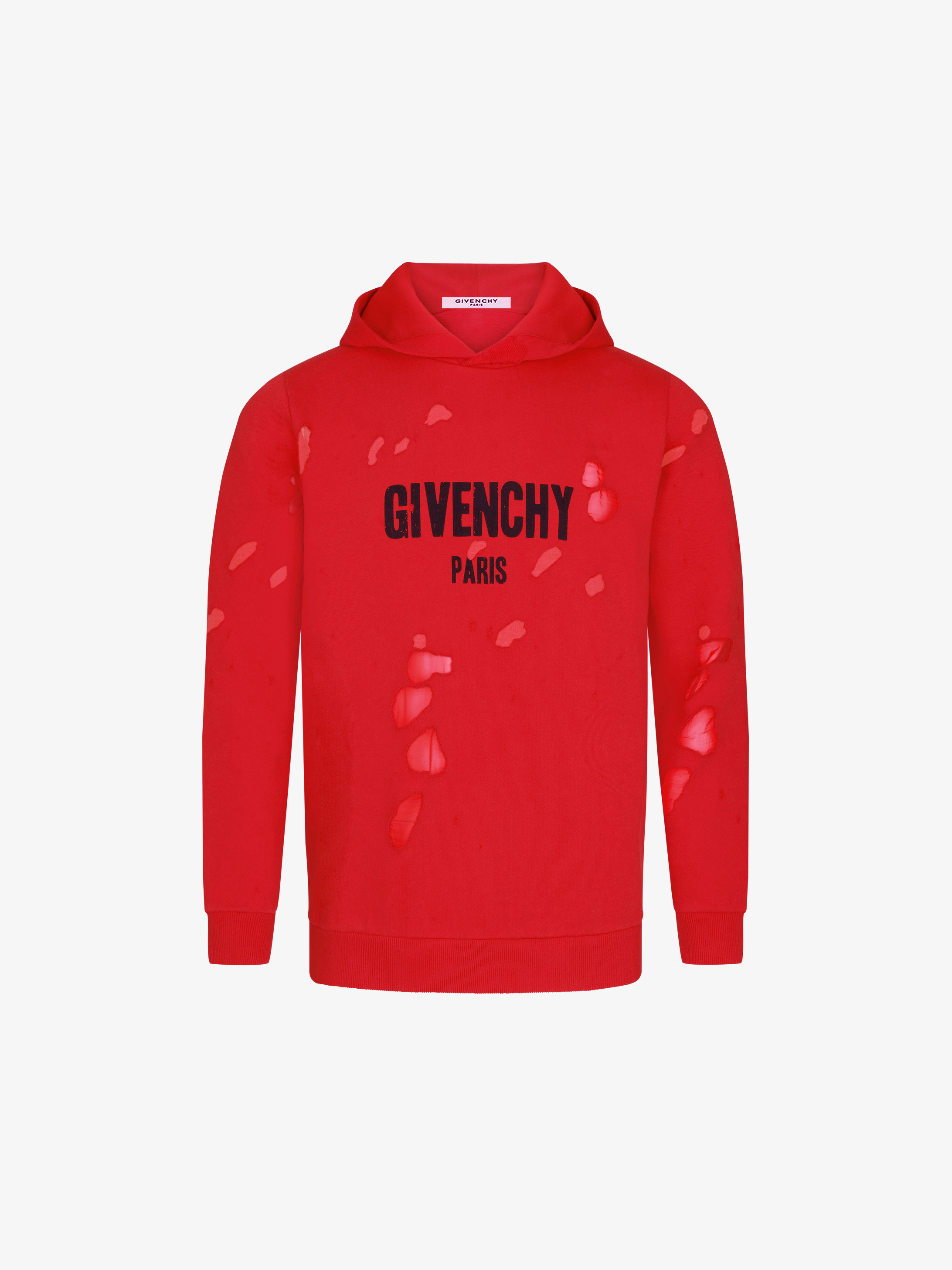 givenchy paris destroyed hoodie givenchy paris. Black Bedroom Furniture Sets. Home Design Ideas