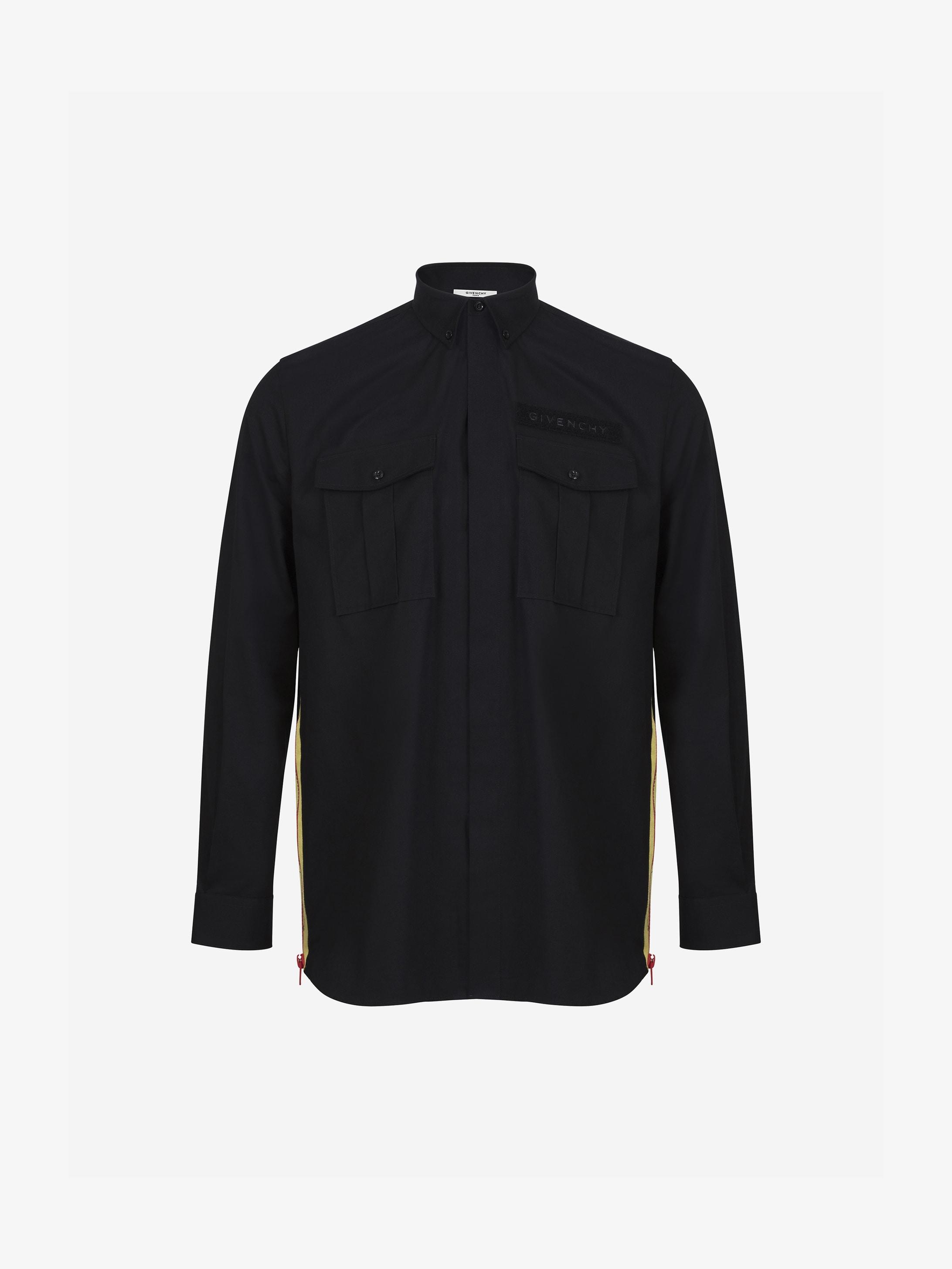 Contrasting details oversized shirt