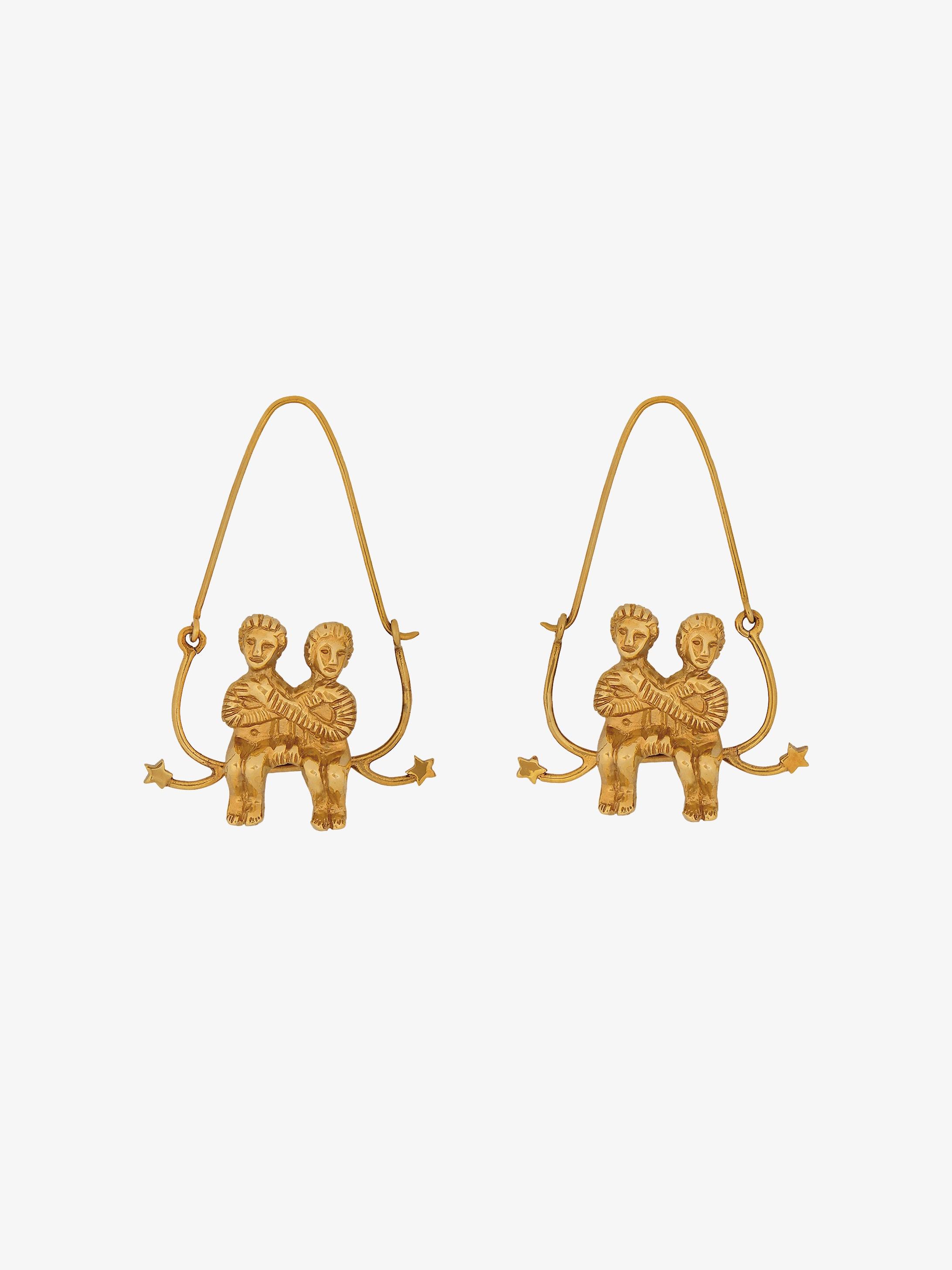 Gemini zodiac earrings