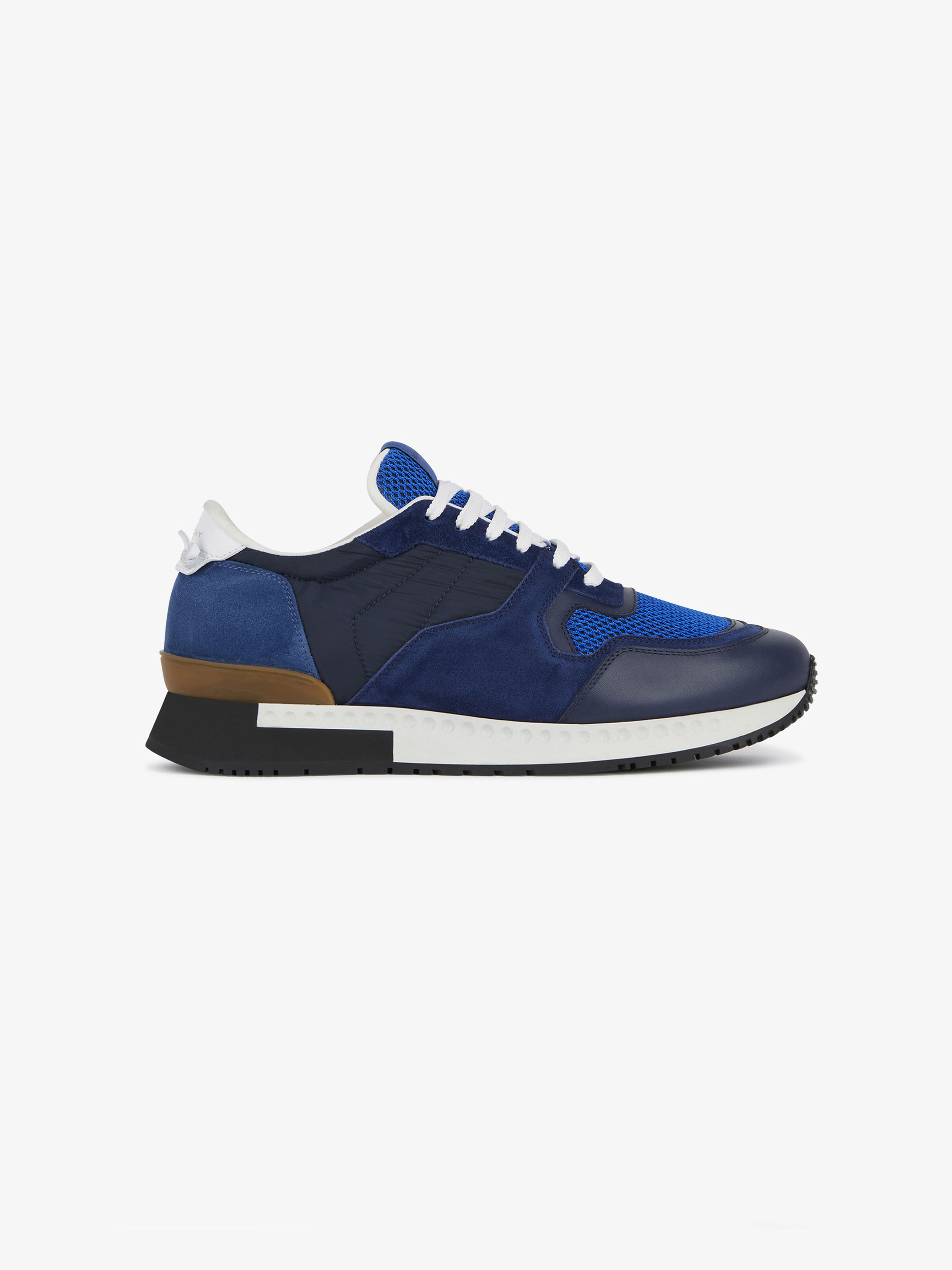 Runner sneakers in suede and nylon