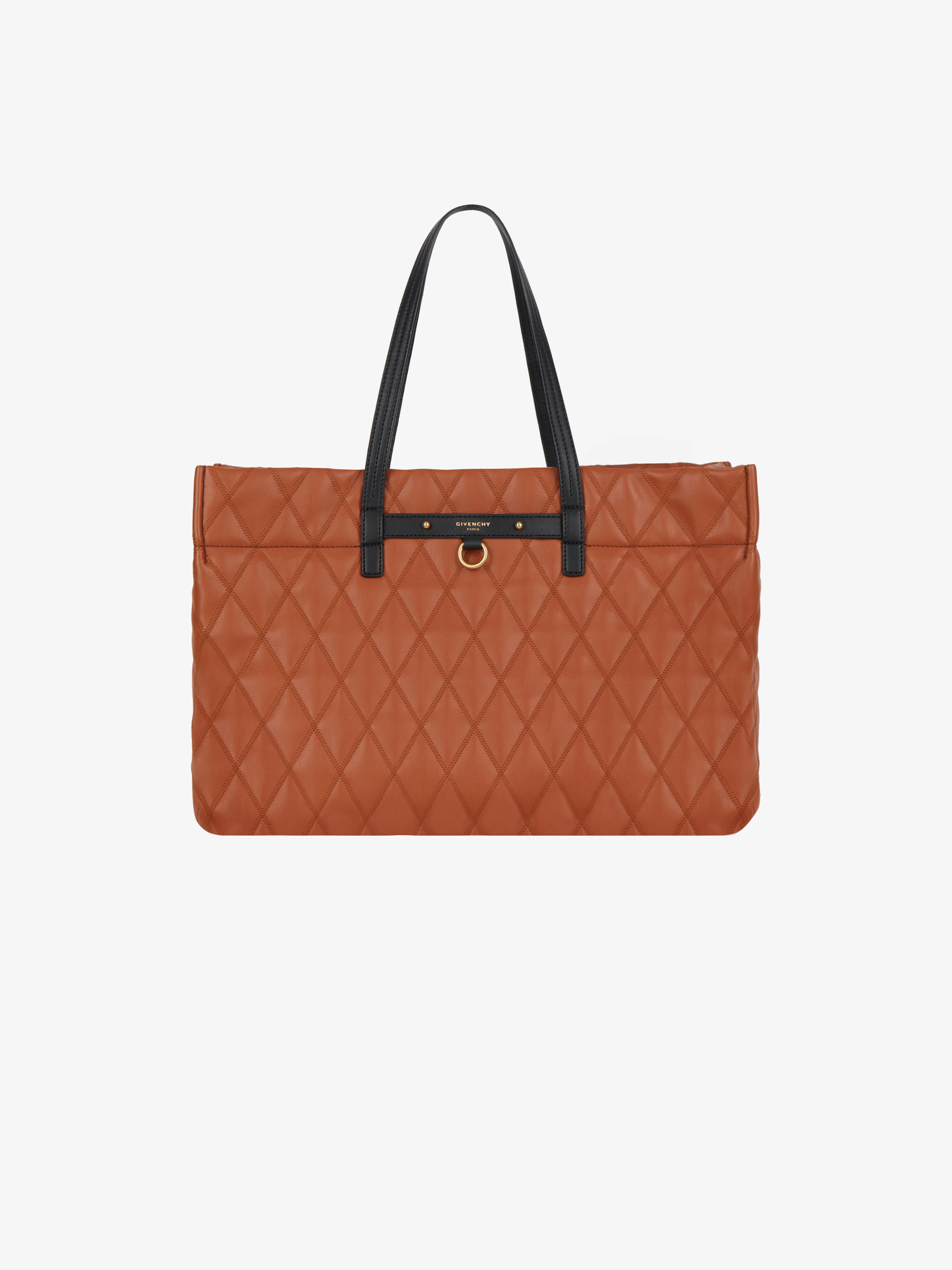 Duo tote bag in quilted canvas