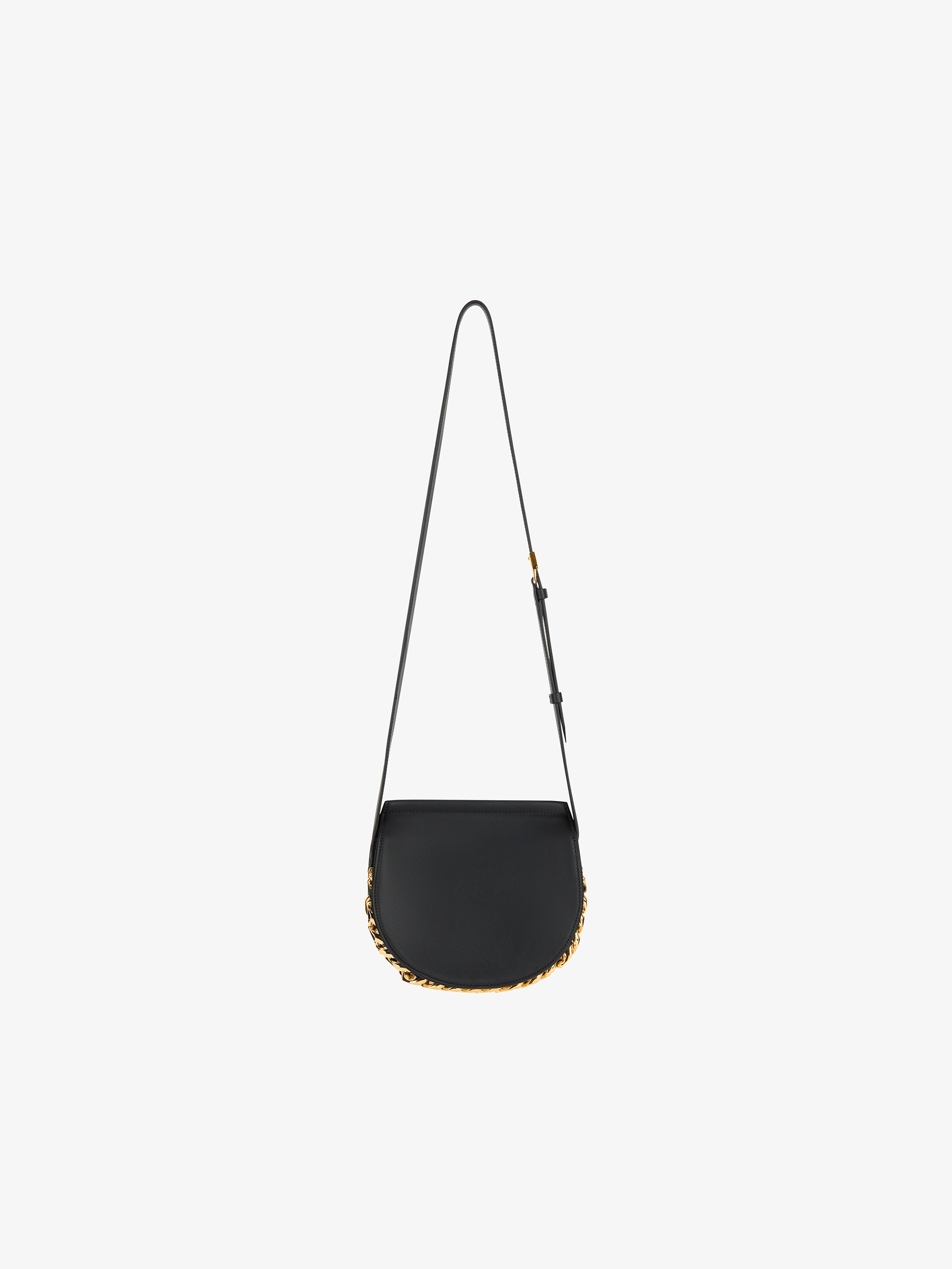Mini Infinity saddle bag in  leather