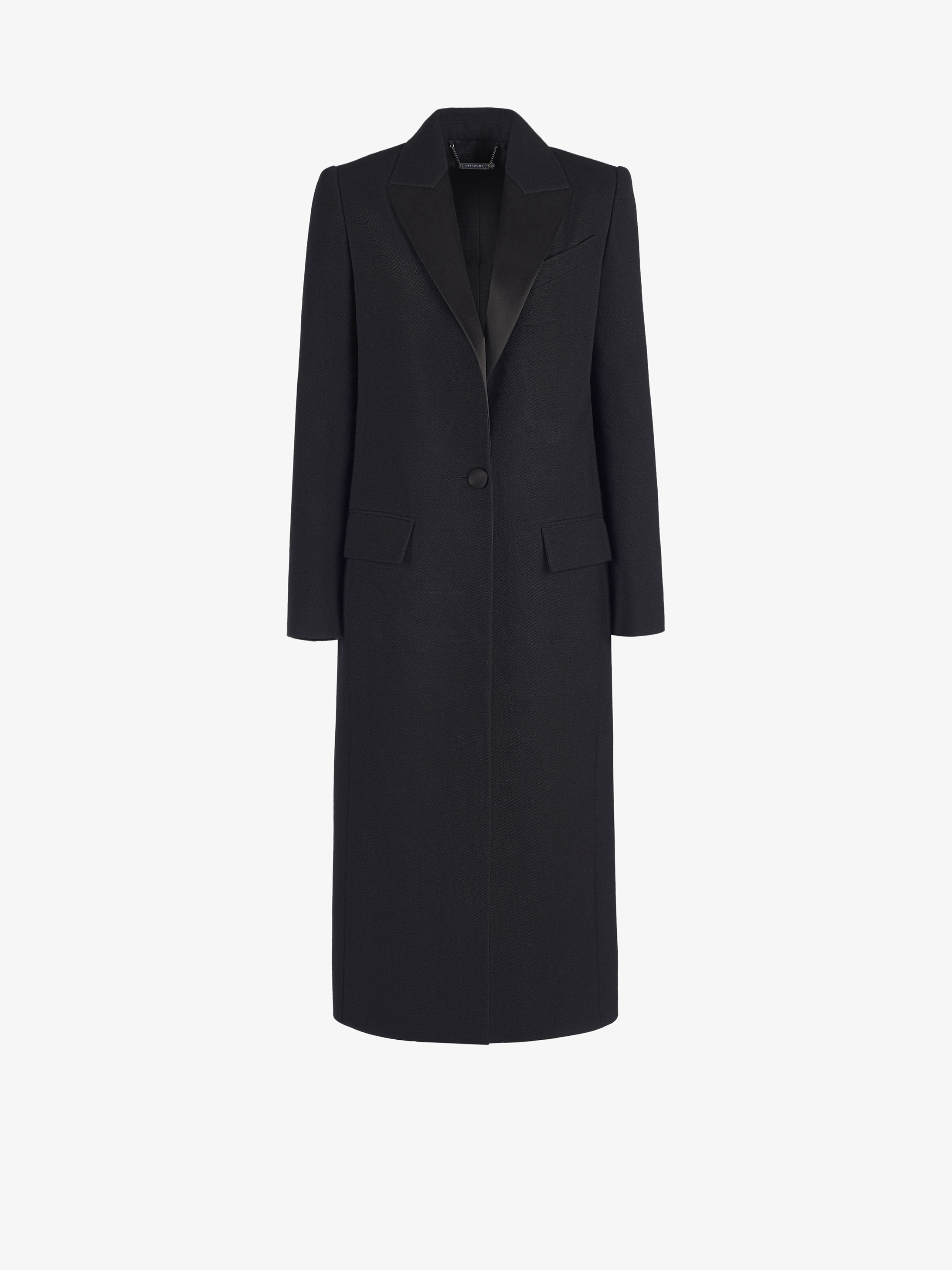 Single breasted long tuxedo coat