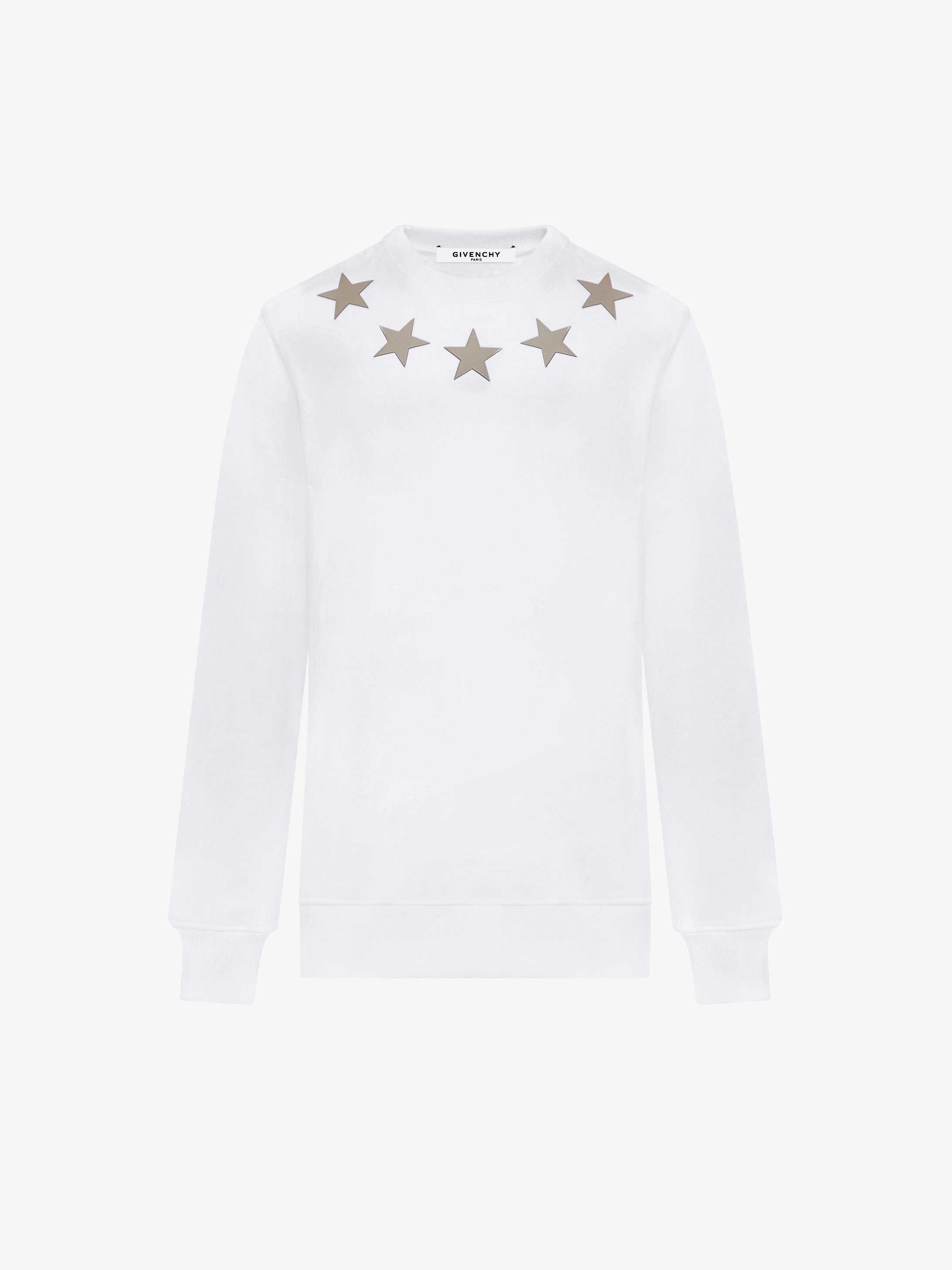 Stars around the neck sweatshirt