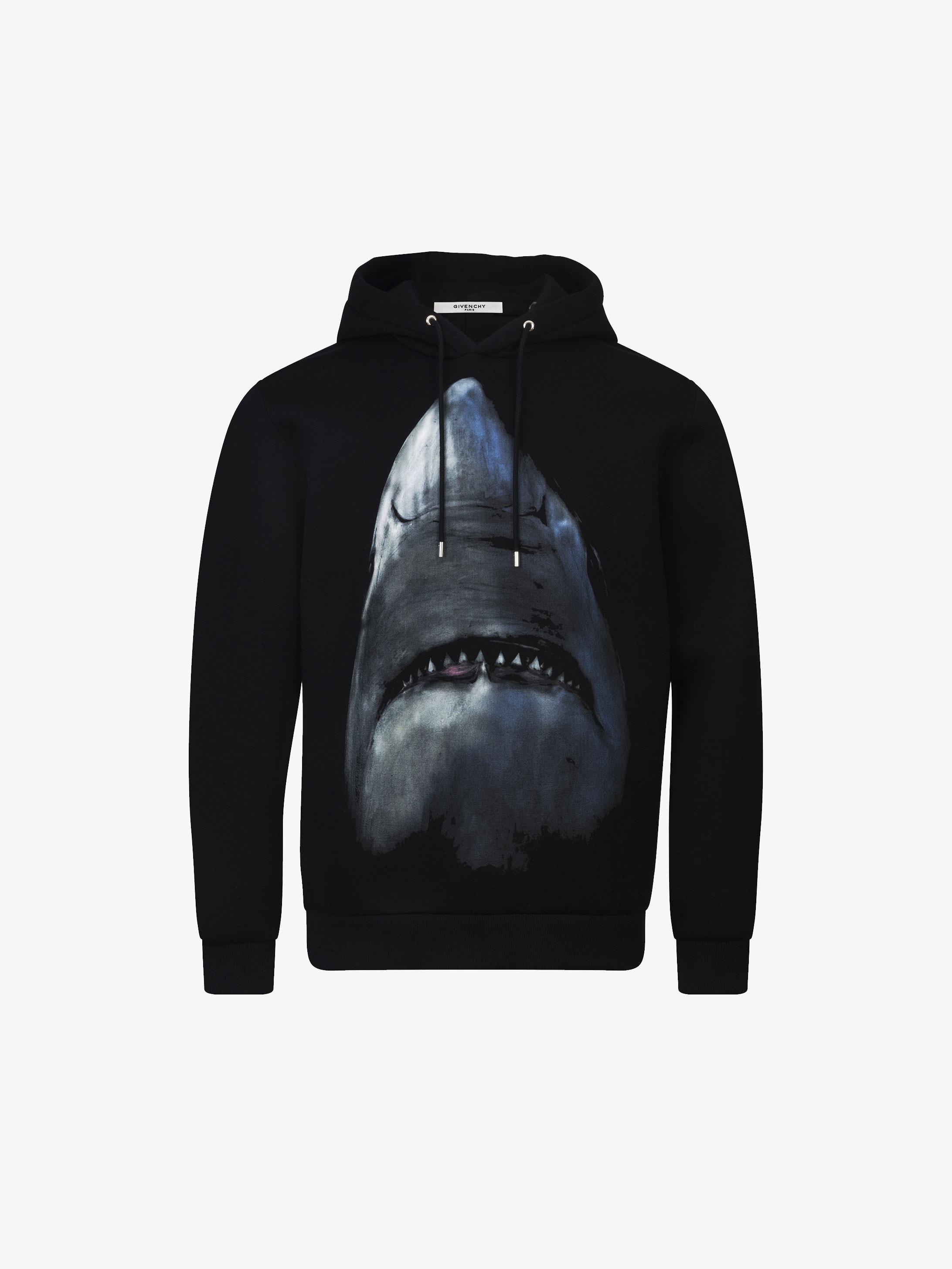 Shark printed hoodie