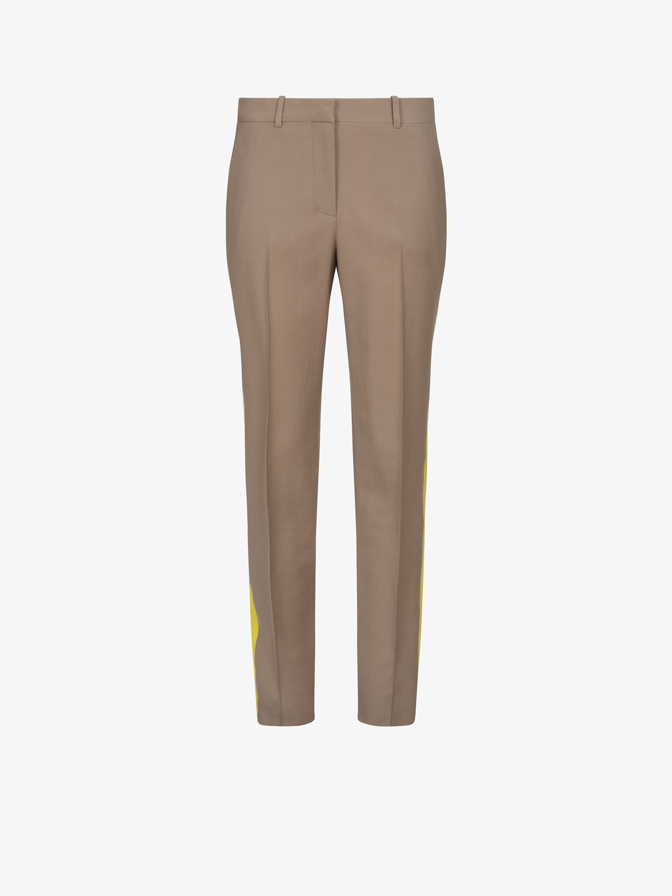 Contrasting side band pants in wool