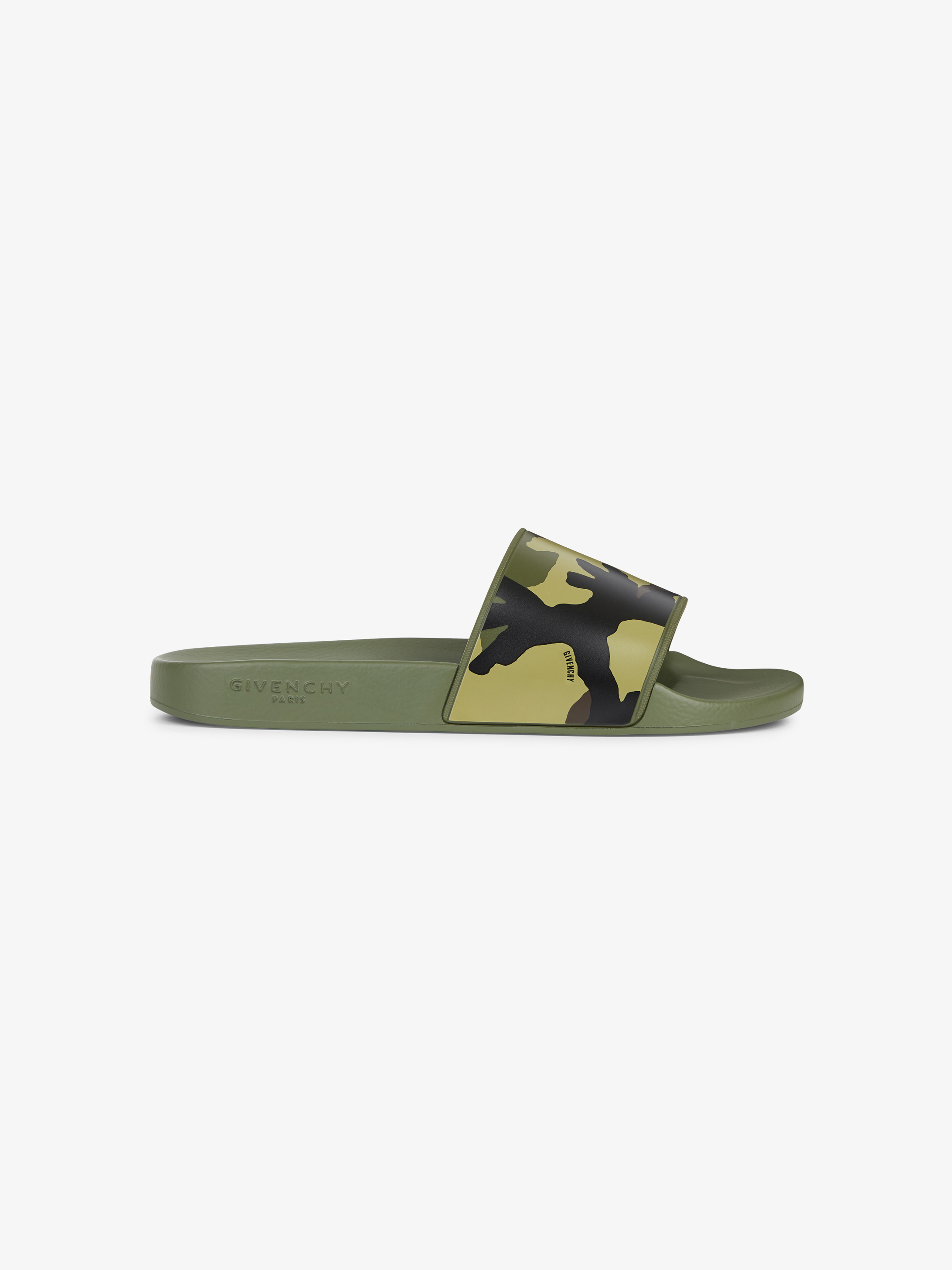 Camo printed sandals in rubber