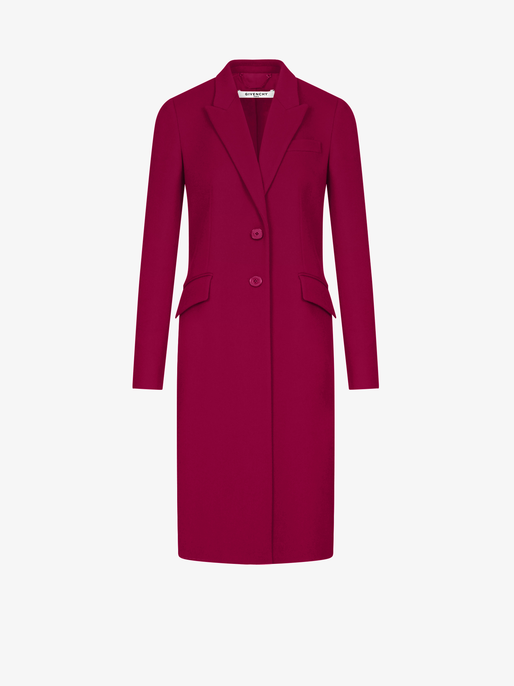 Wool and cashmere slim coat