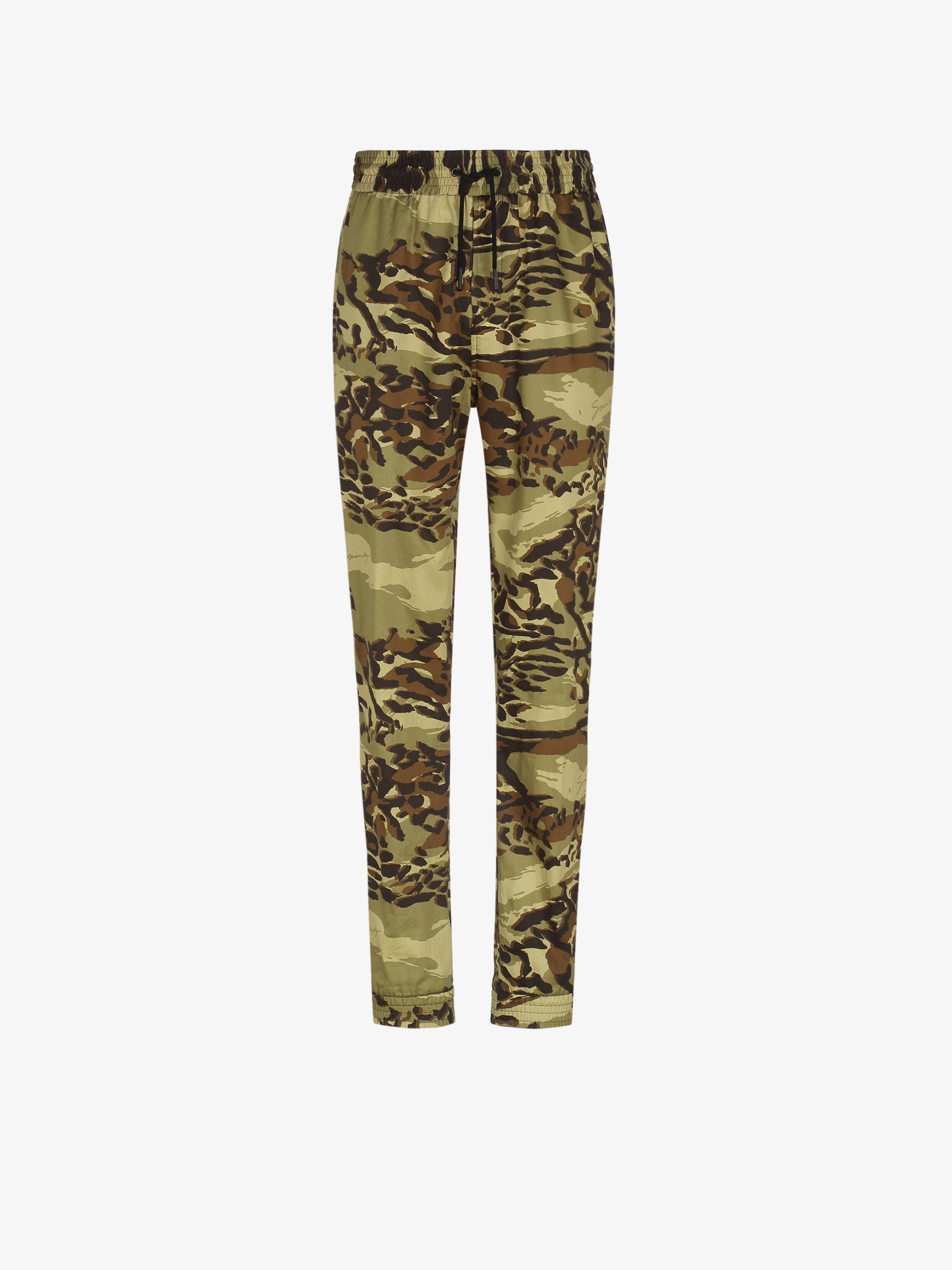 Camouflage jogger pants in coton twill