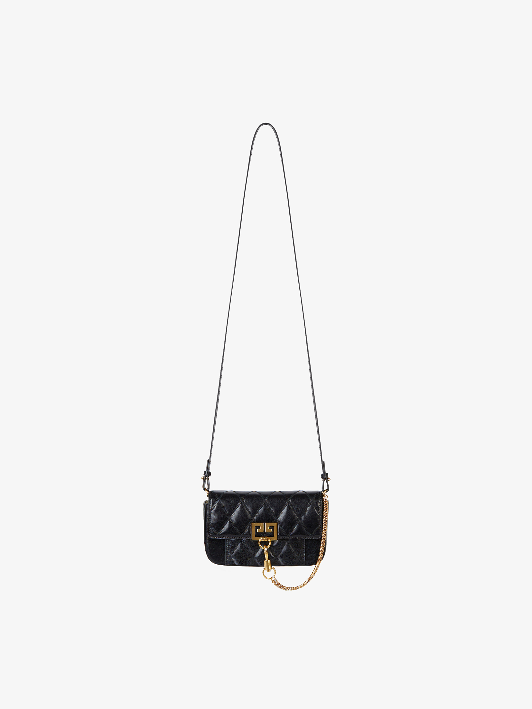 Mini Pocket bag in diamond quilted leather