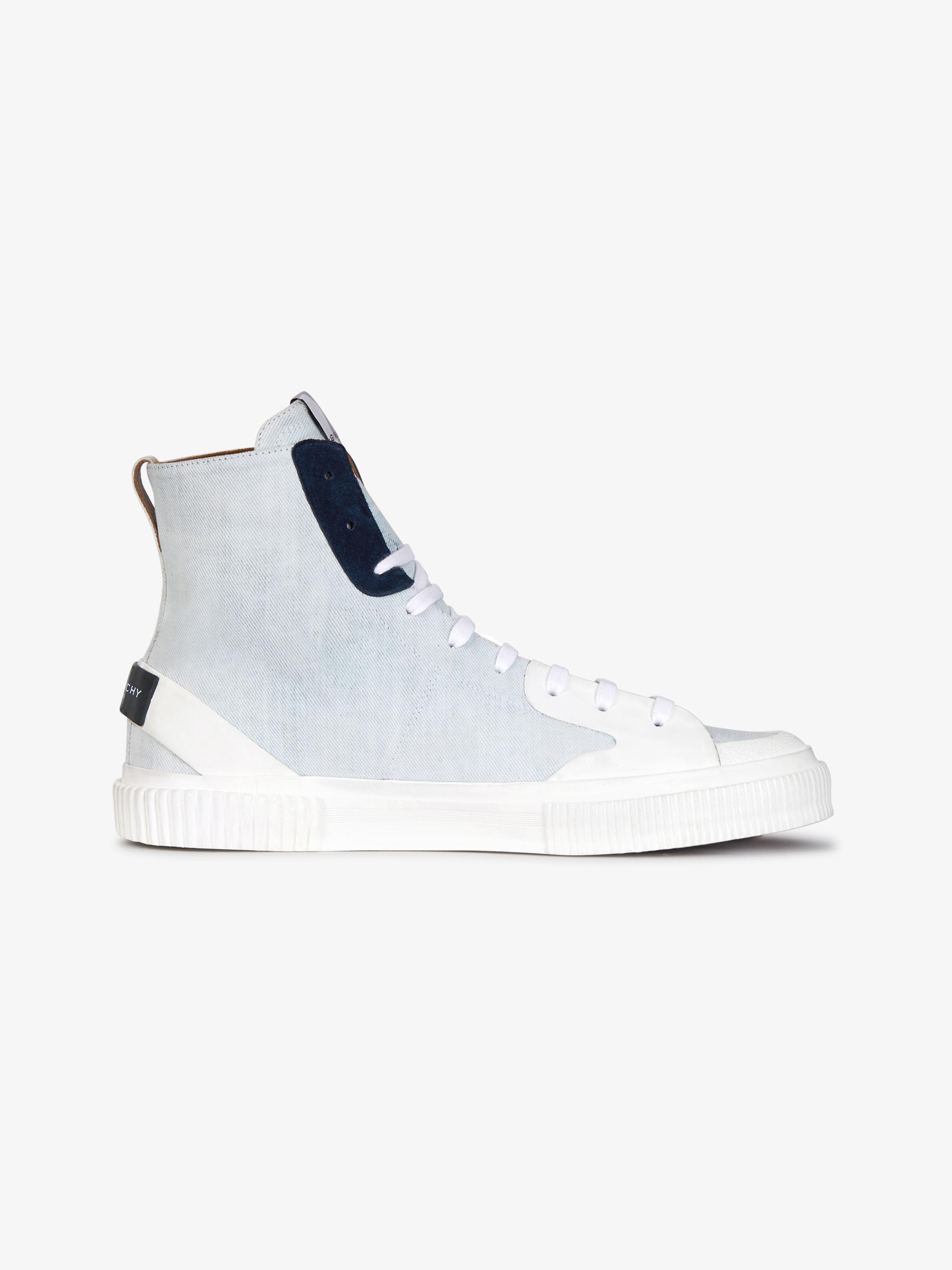 Sneakers mi-hautes en denim