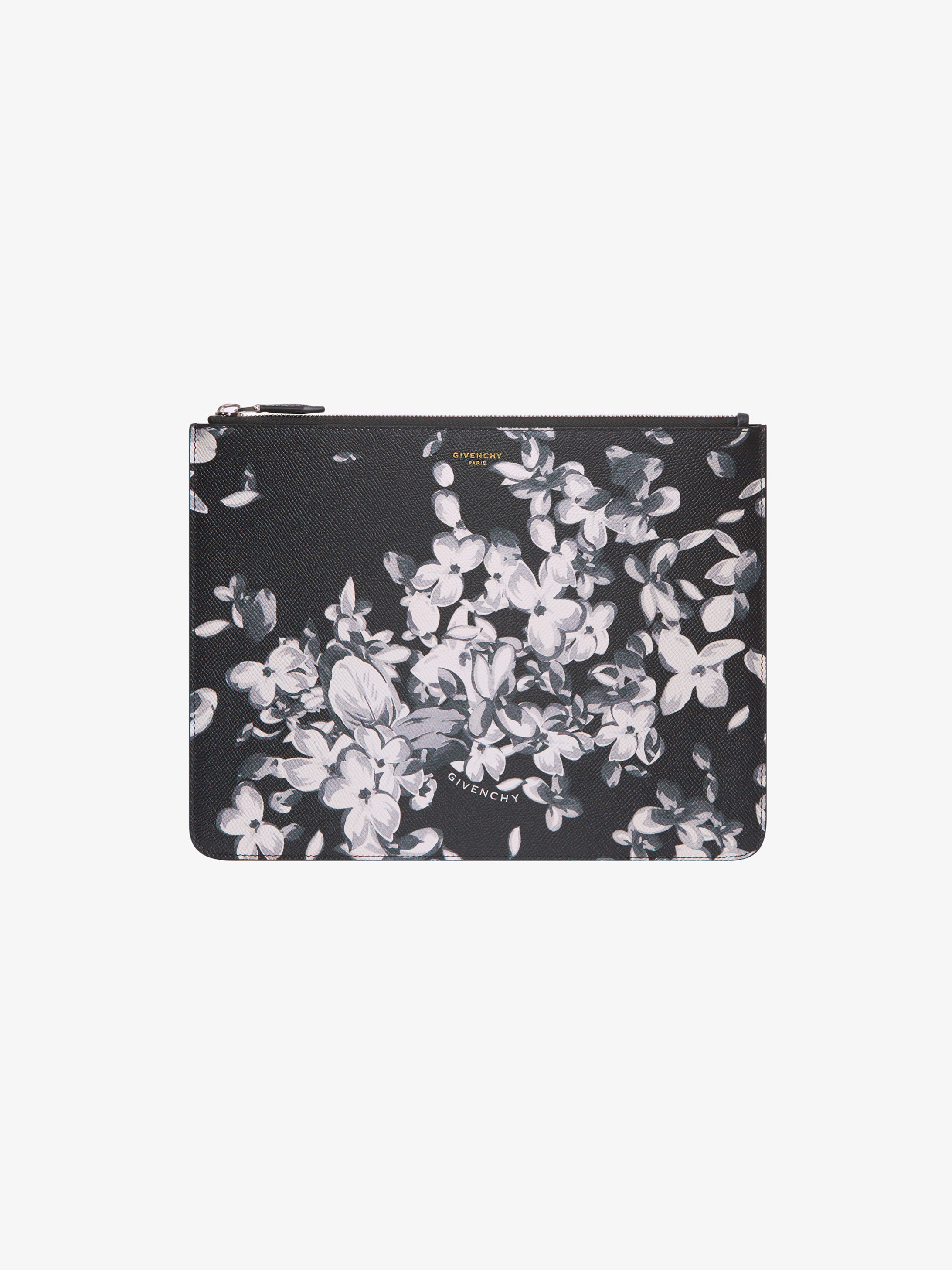 Flower printed large pouch