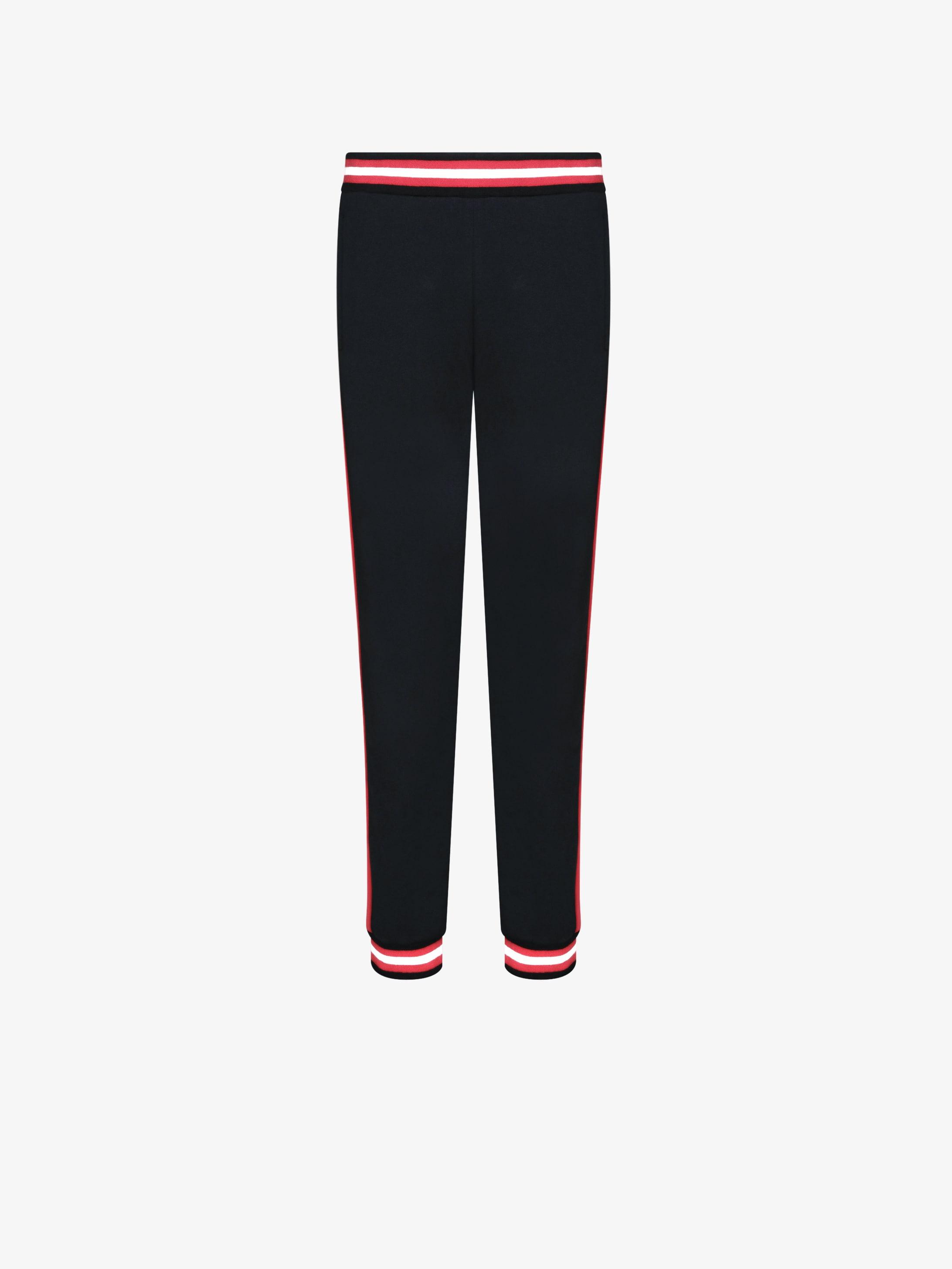 Contrasted bands felpa jogging pants