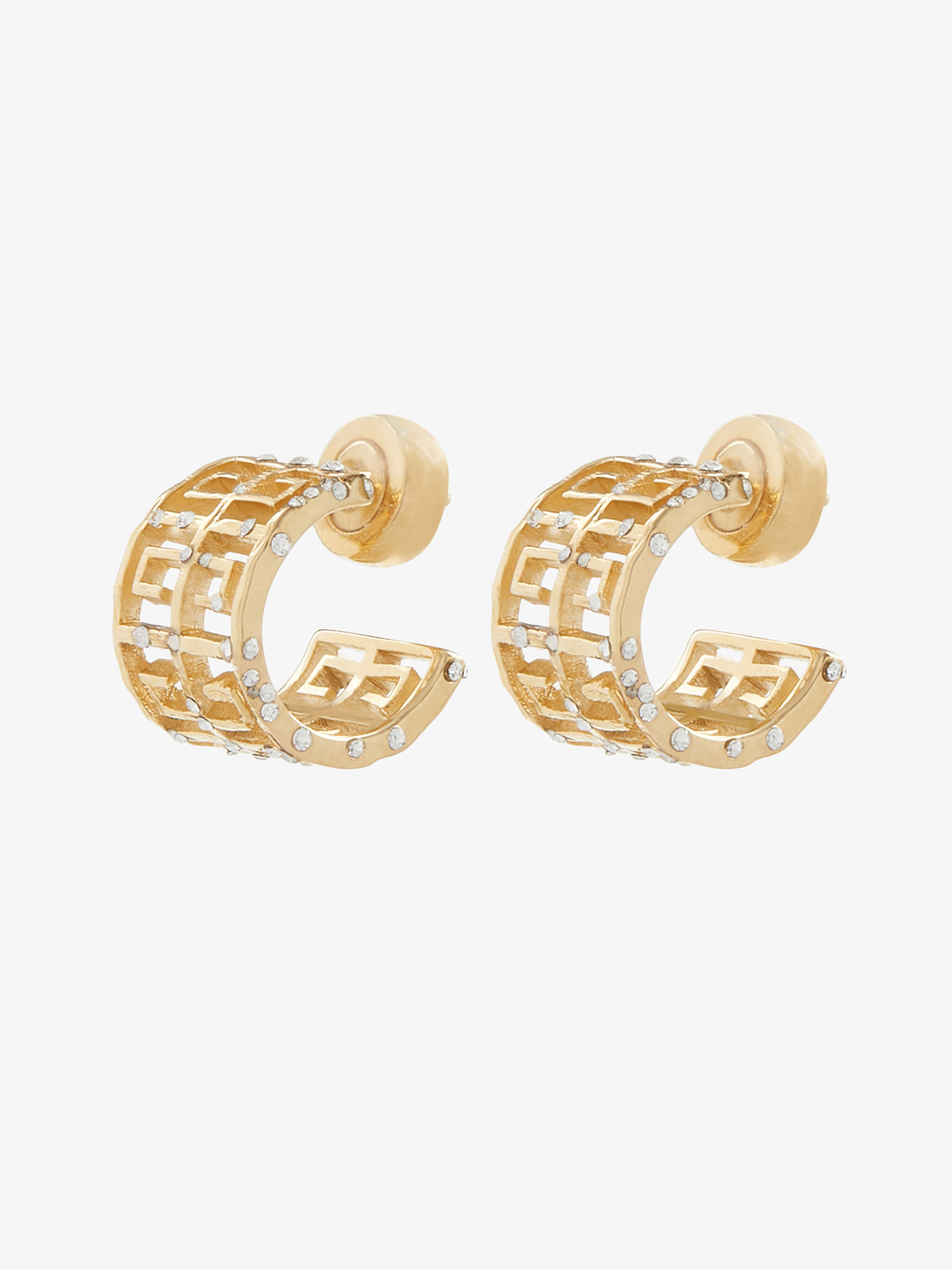 Crystals tiled 4 G earrings