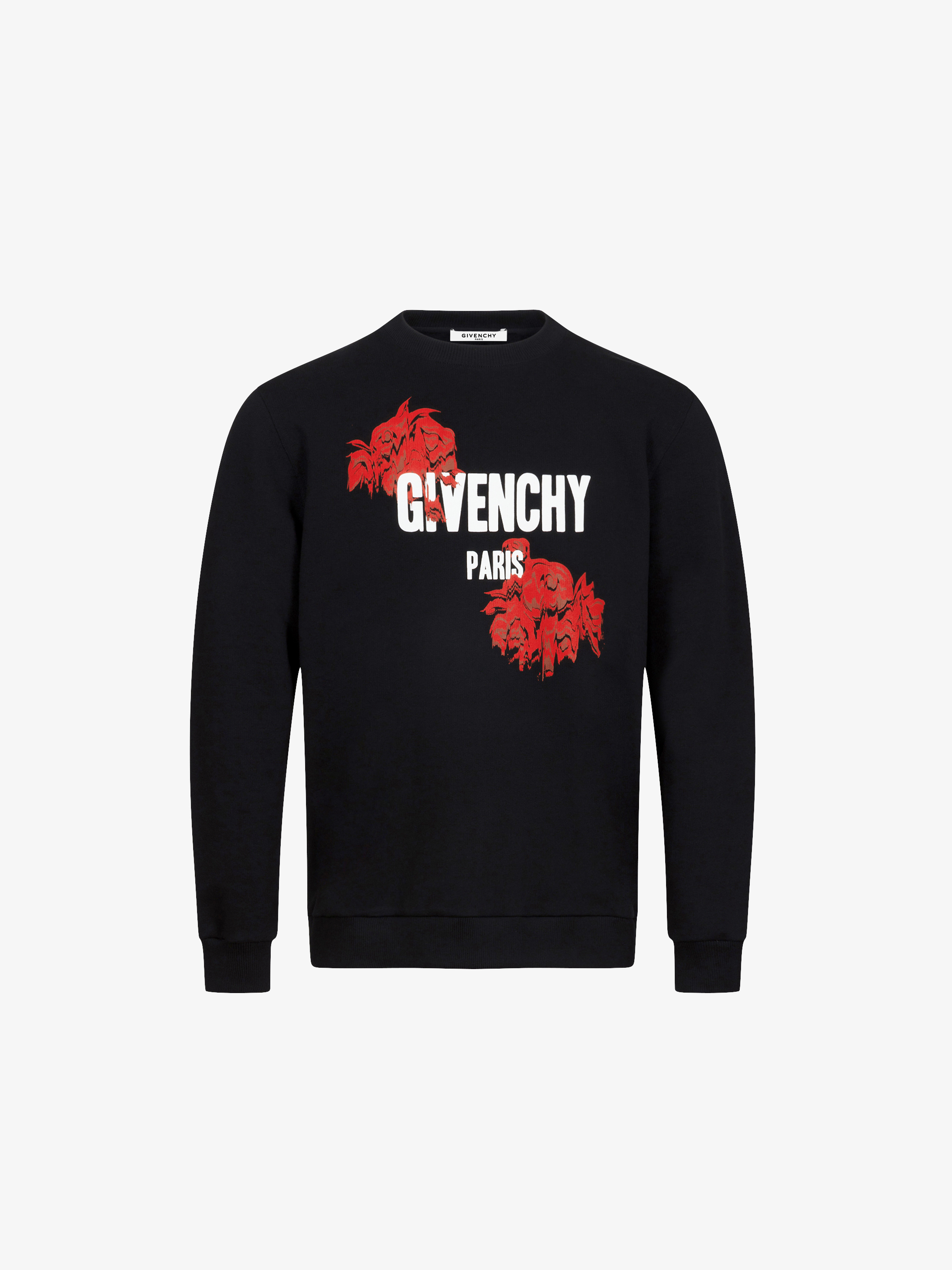 Roses & GIVENCHY PARIS printed Sweatshirt