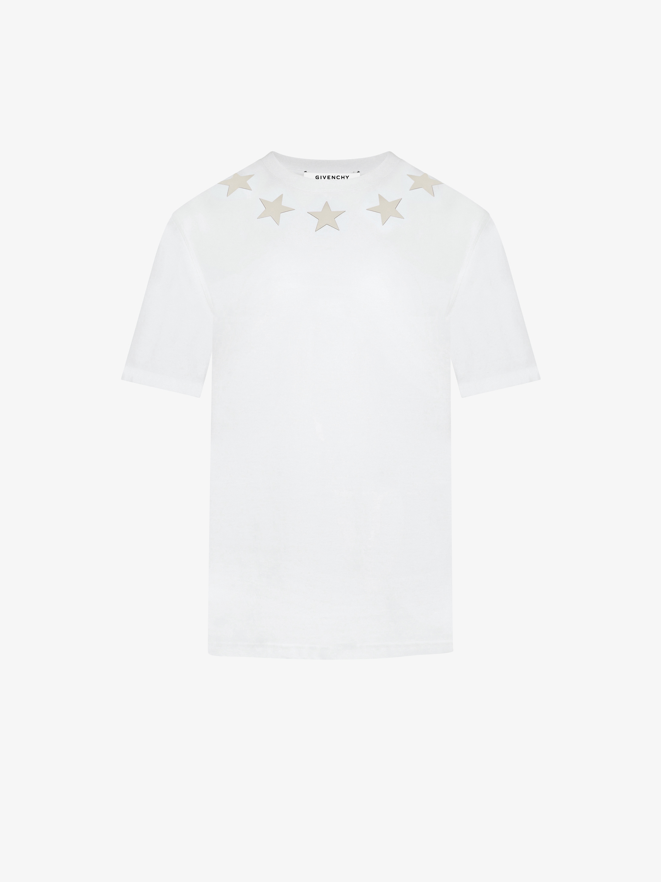 Silver stars around the neck oversized t-shirt