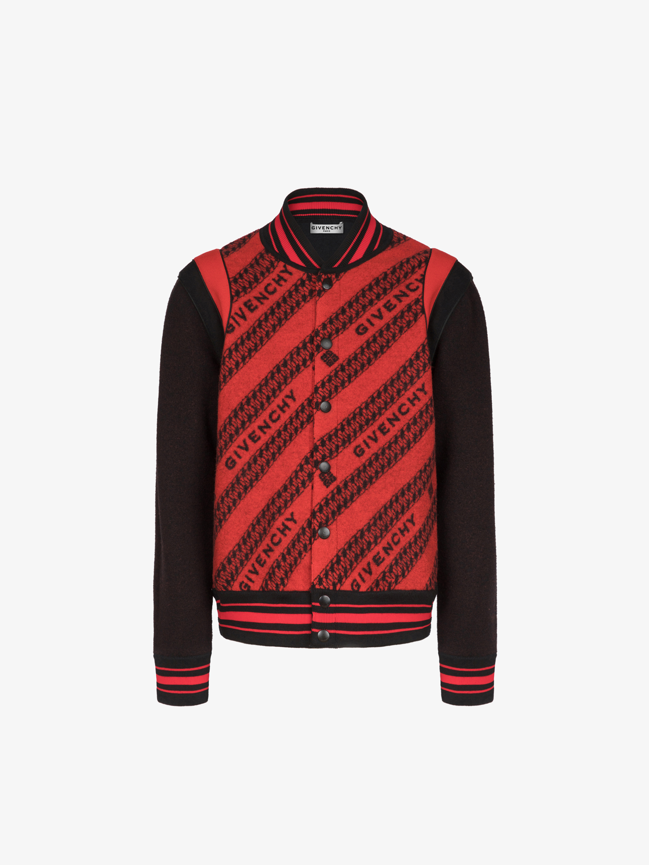 GIVENCHY chain bomber in jacquard