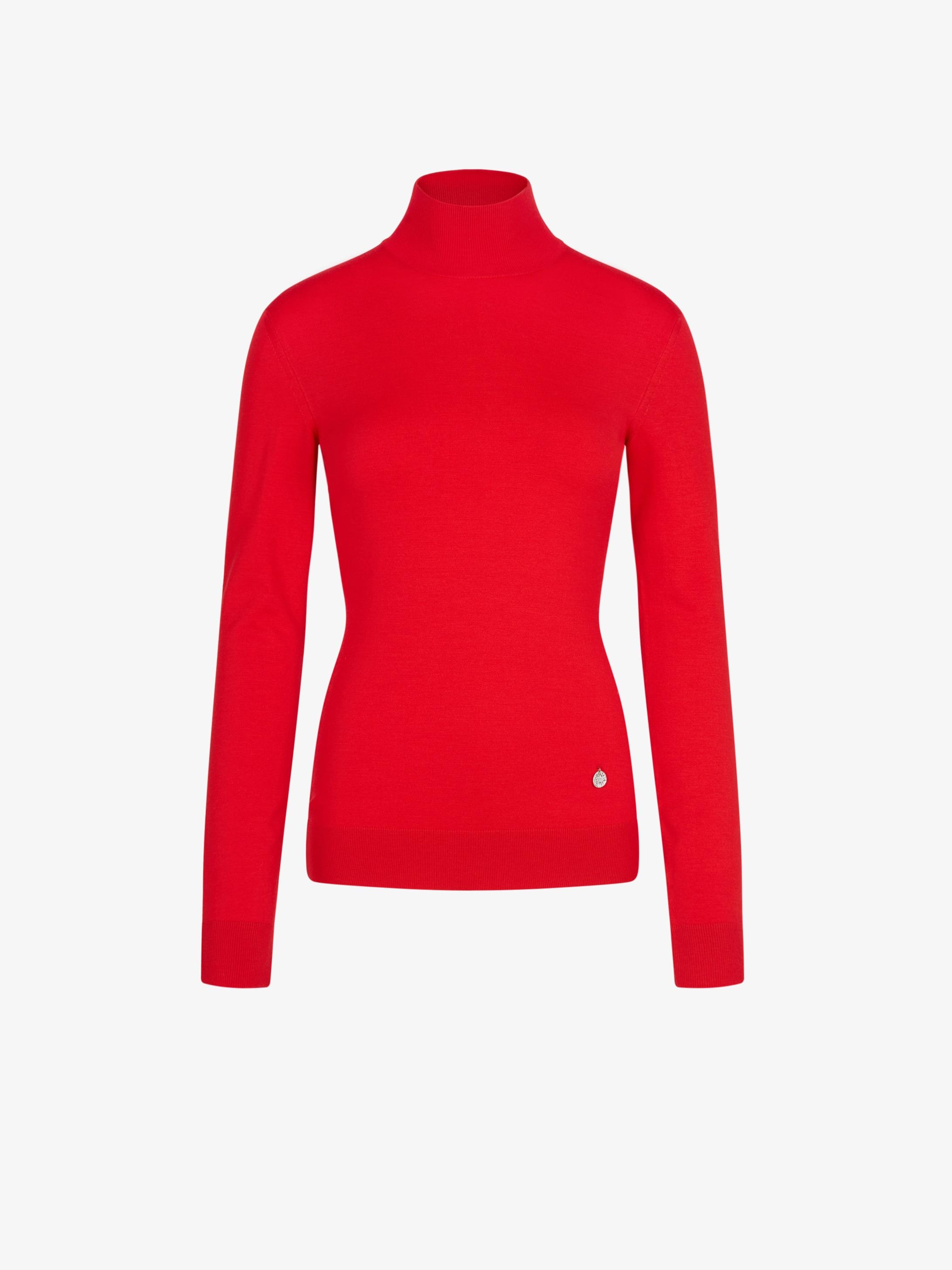 Pullover a collo alto in jersey di lana