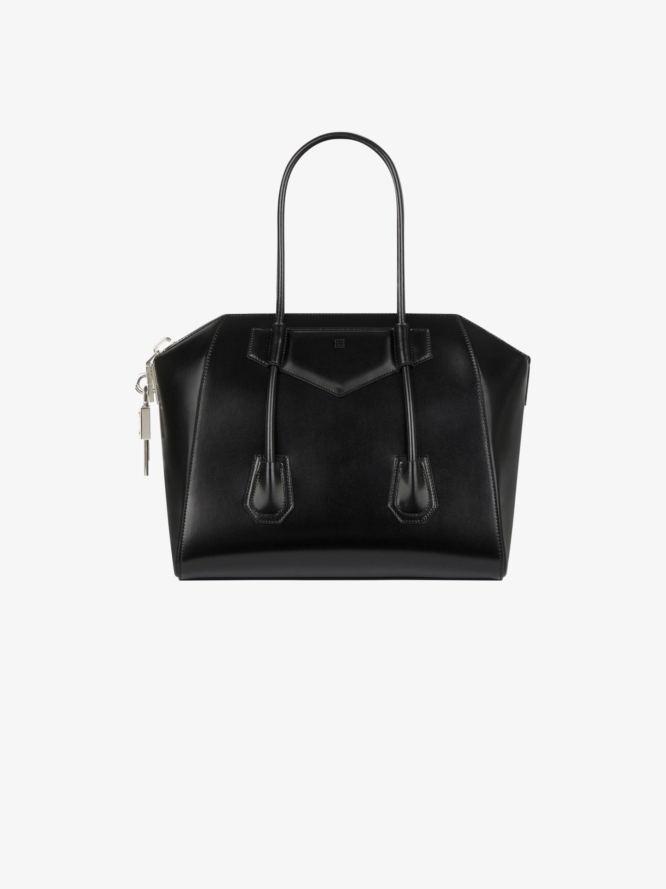 Medium Antigona lock bag in box leather