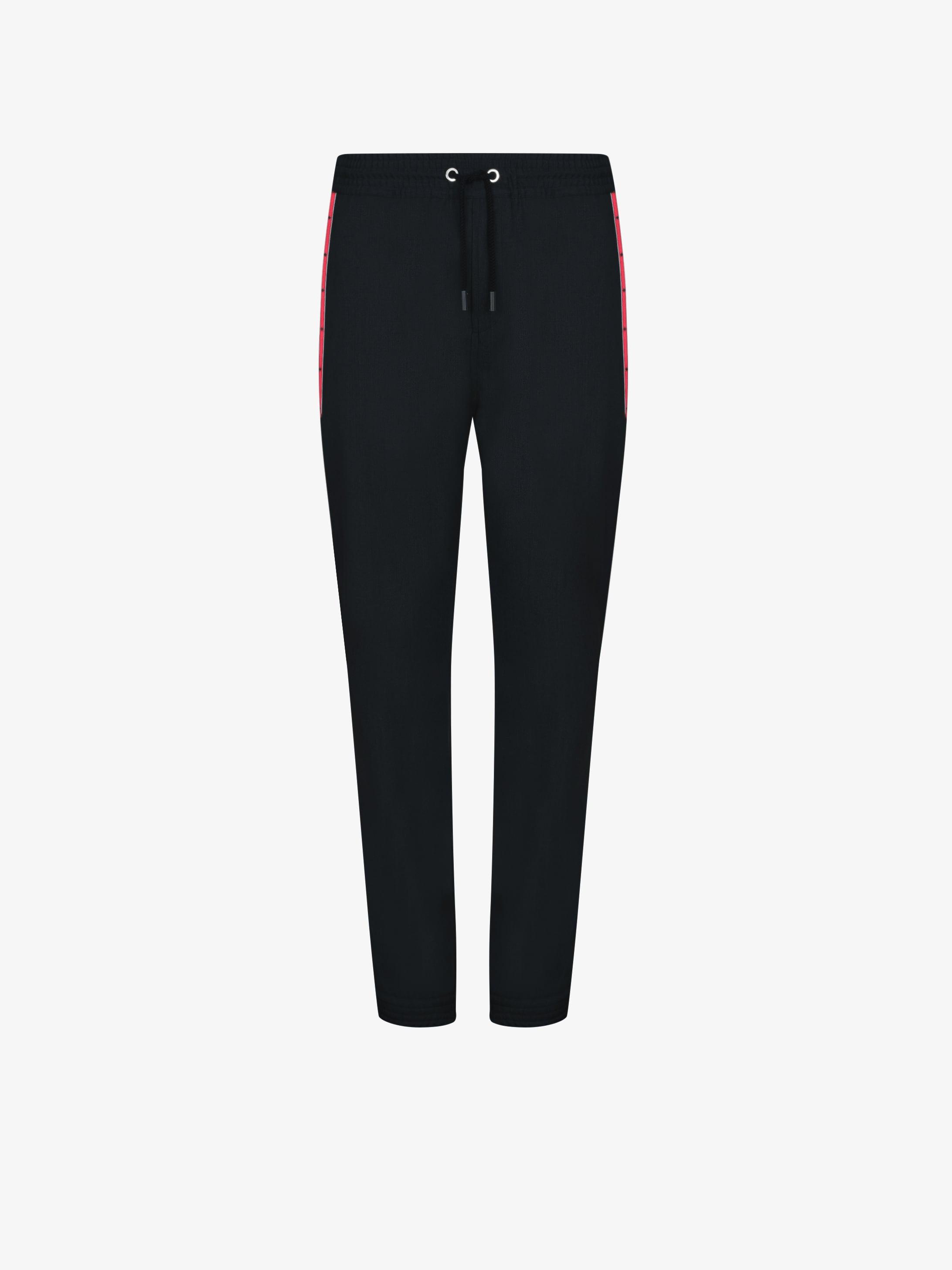 Contrasting band jogging pants