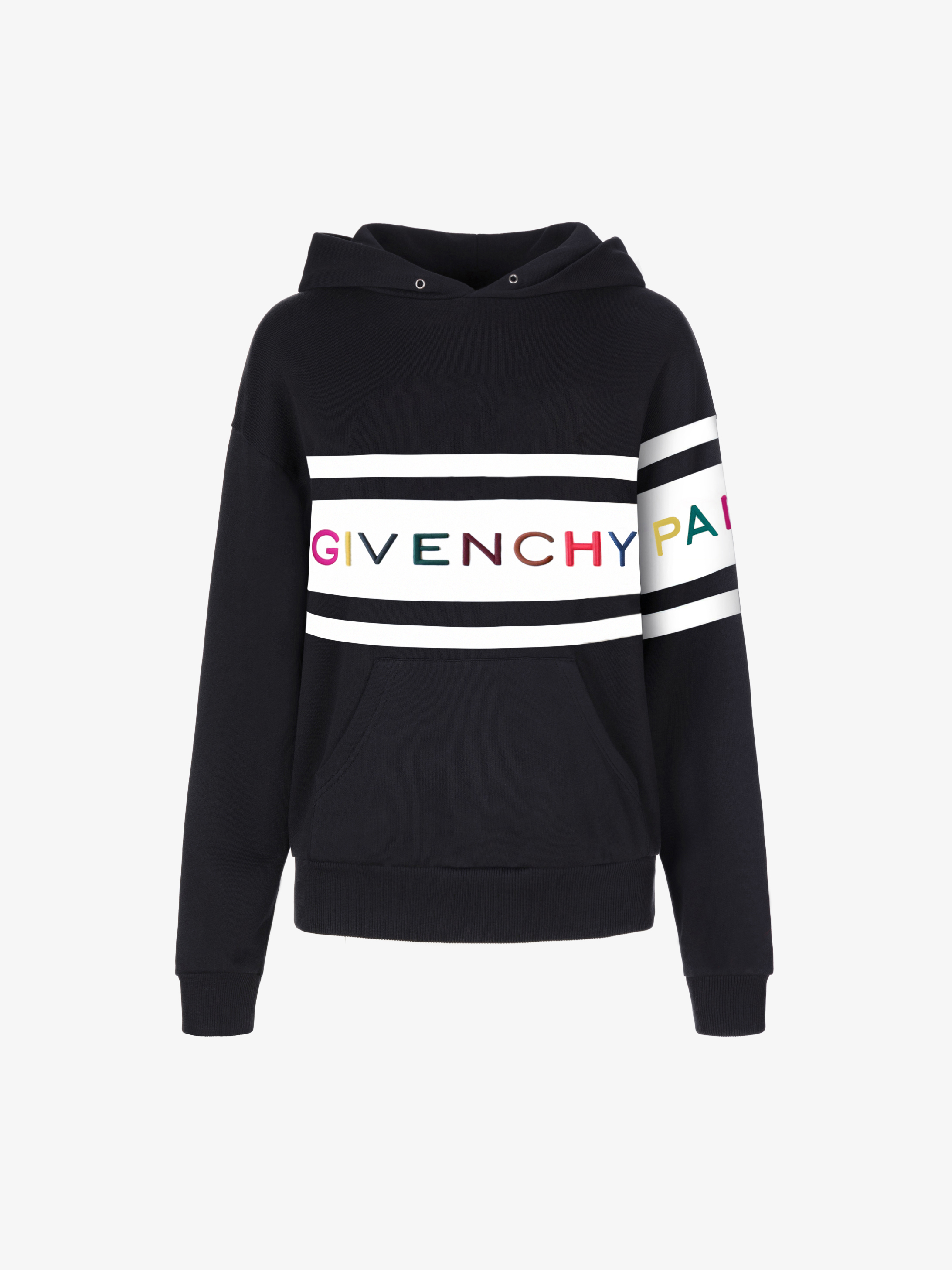 Hoodie with contrasting stripes