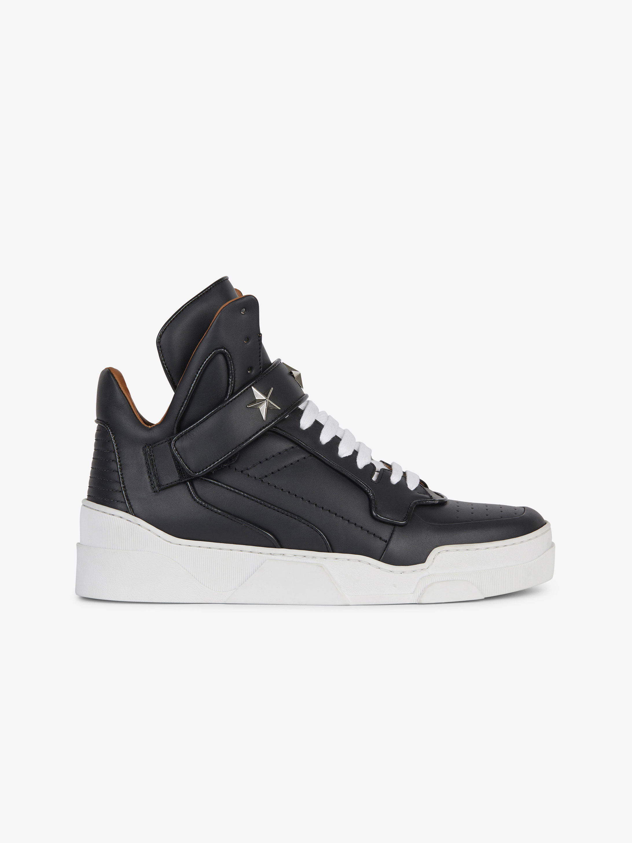 Mid sneakers in mat leather