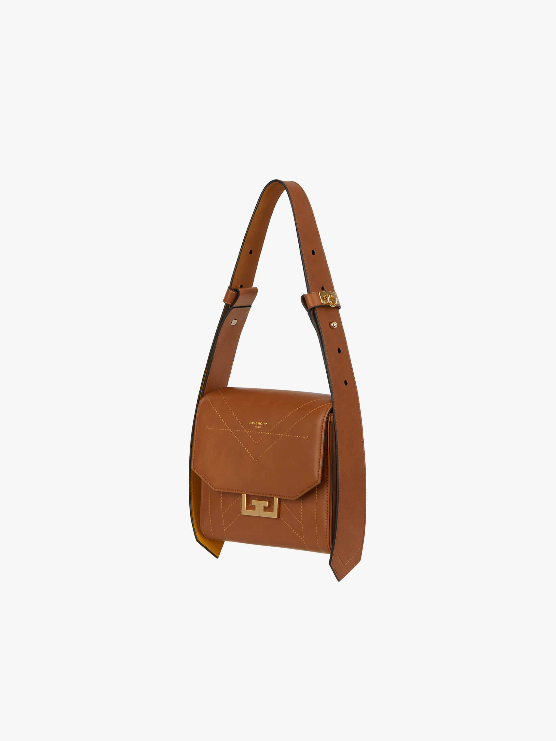 Small two-tone Eden bag in leather