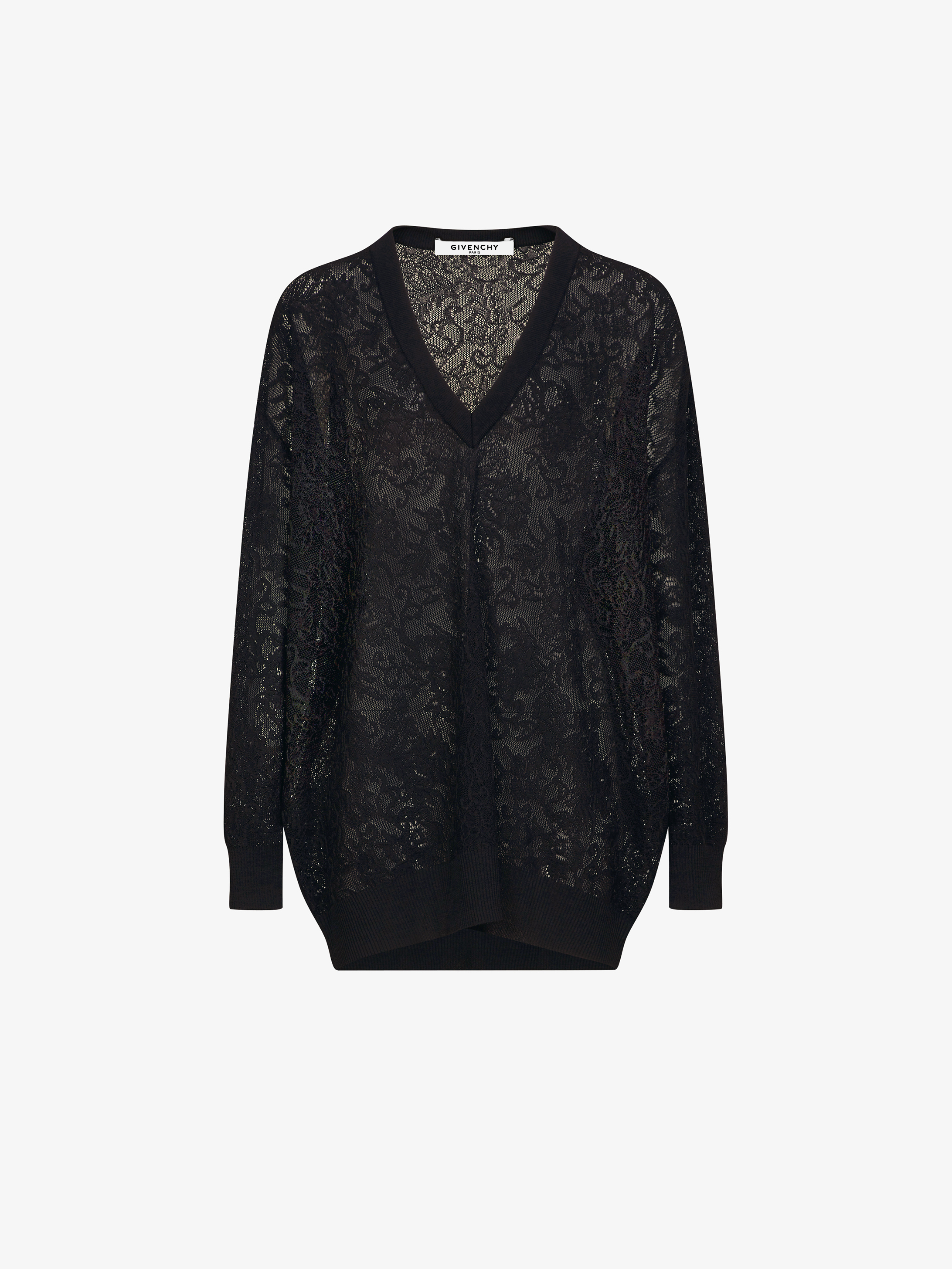 Oversized lace effect jumper