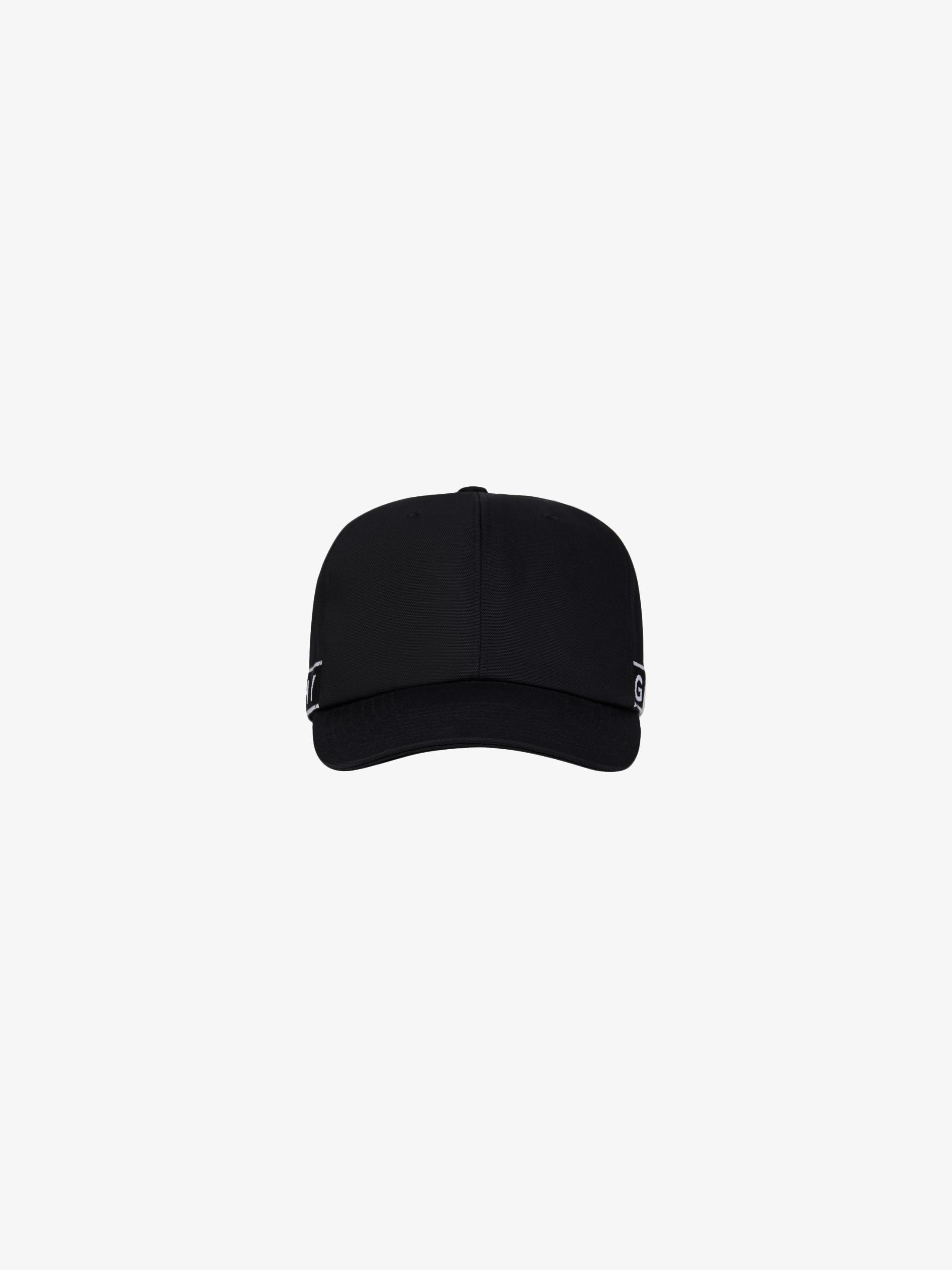 GIVENCHY 4G LOGO织带帆布棒球帽
