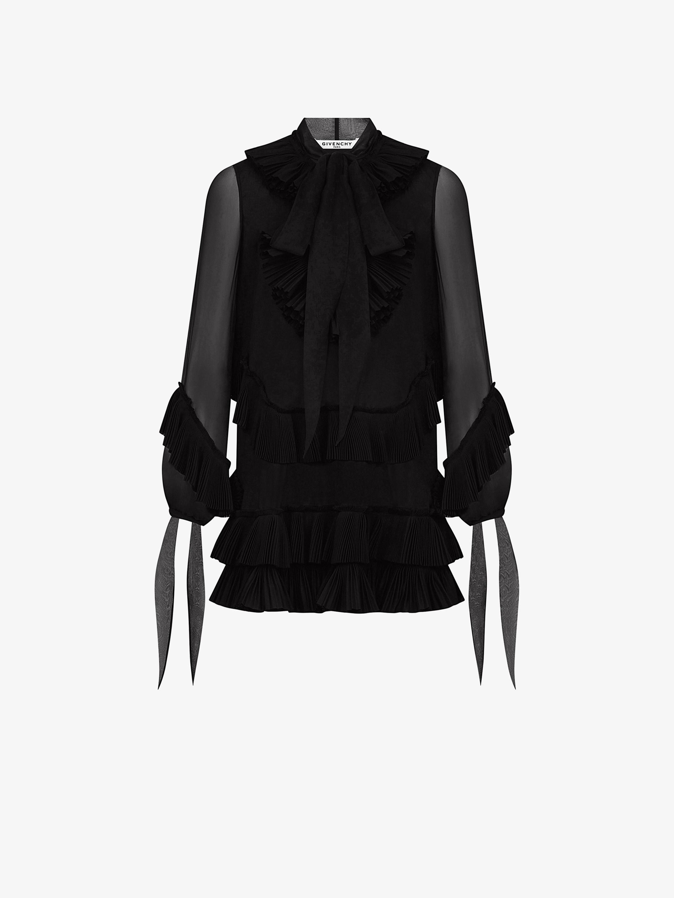 A-line short dress with ruffles