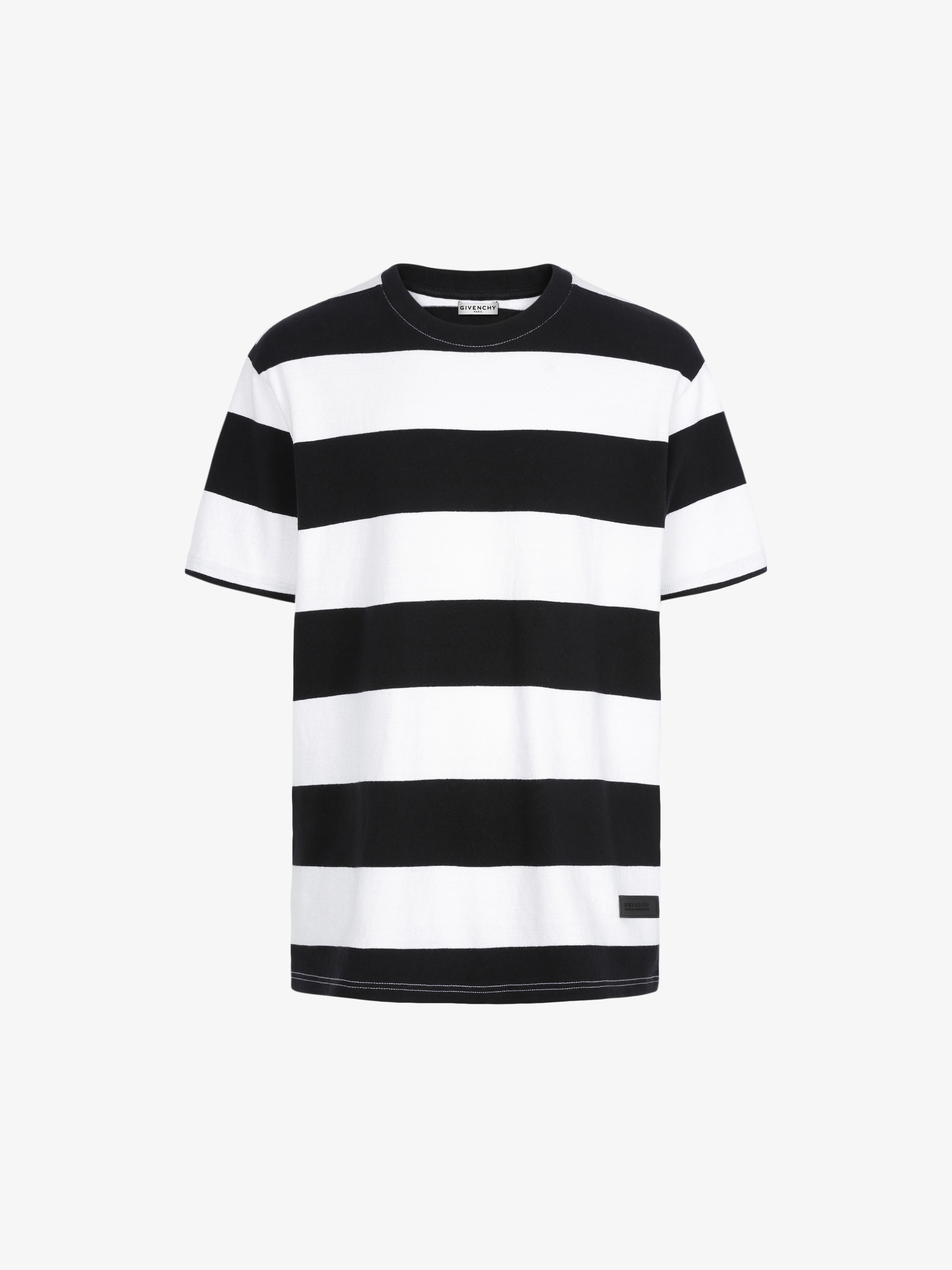 GIVENCHY patch striped t-shirt