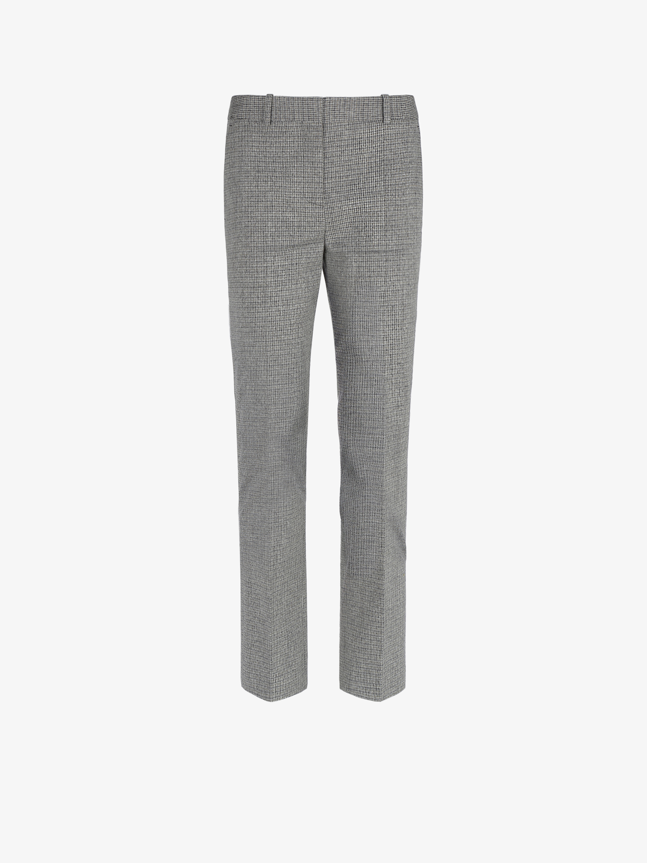 Cigarette trousers in checked tweed