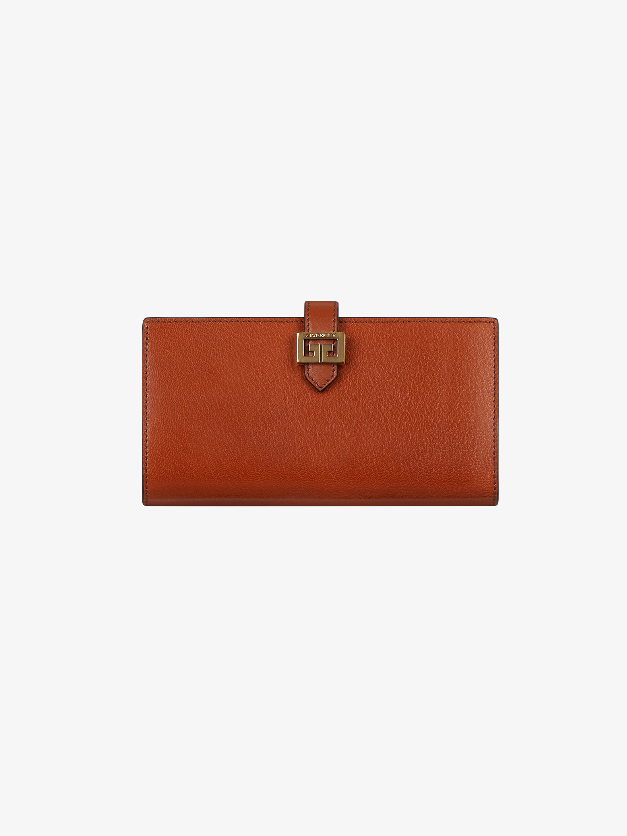 two-toned GV3 long wallet in leather