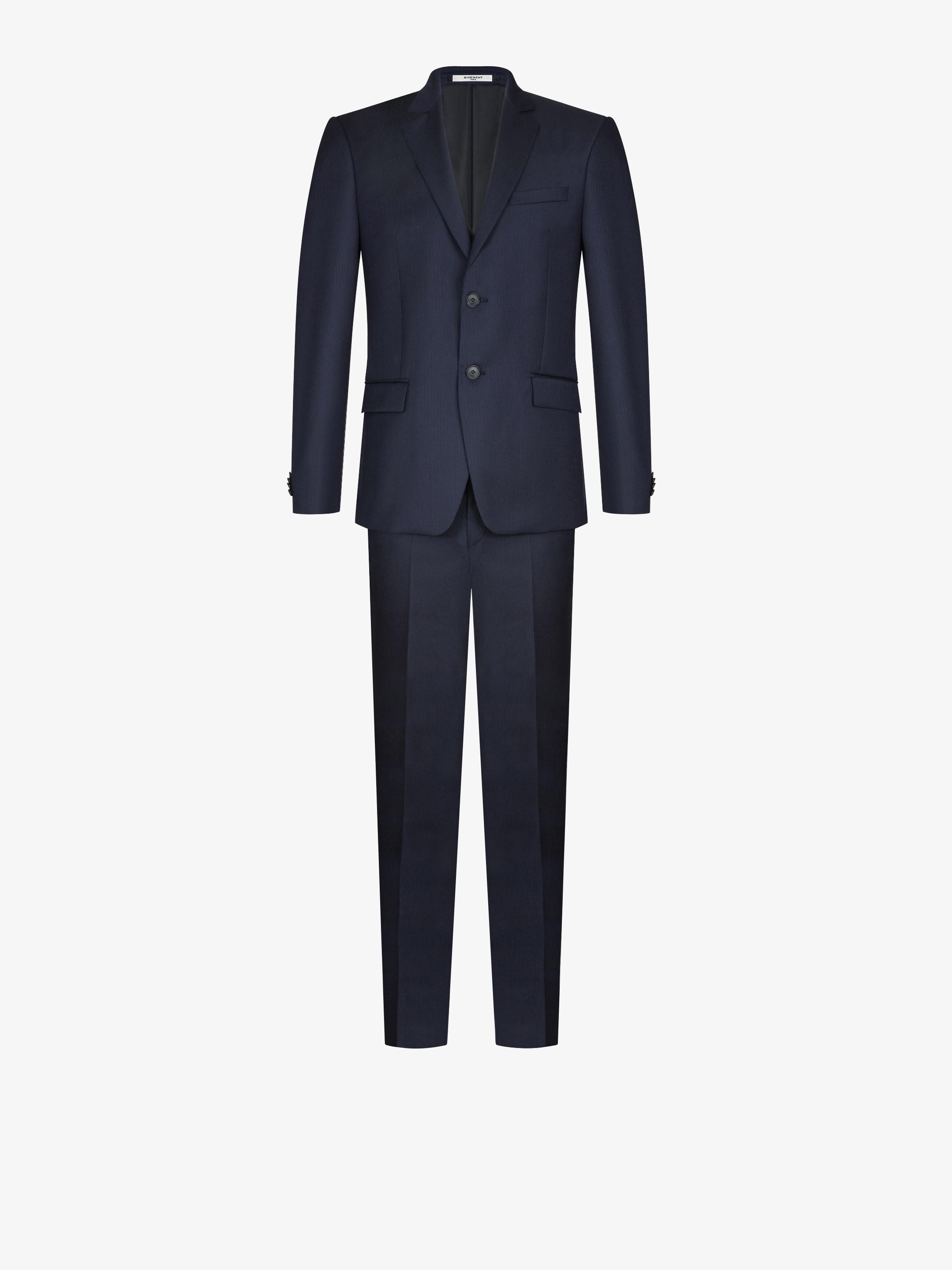 Regular fit pinstripe wool suit