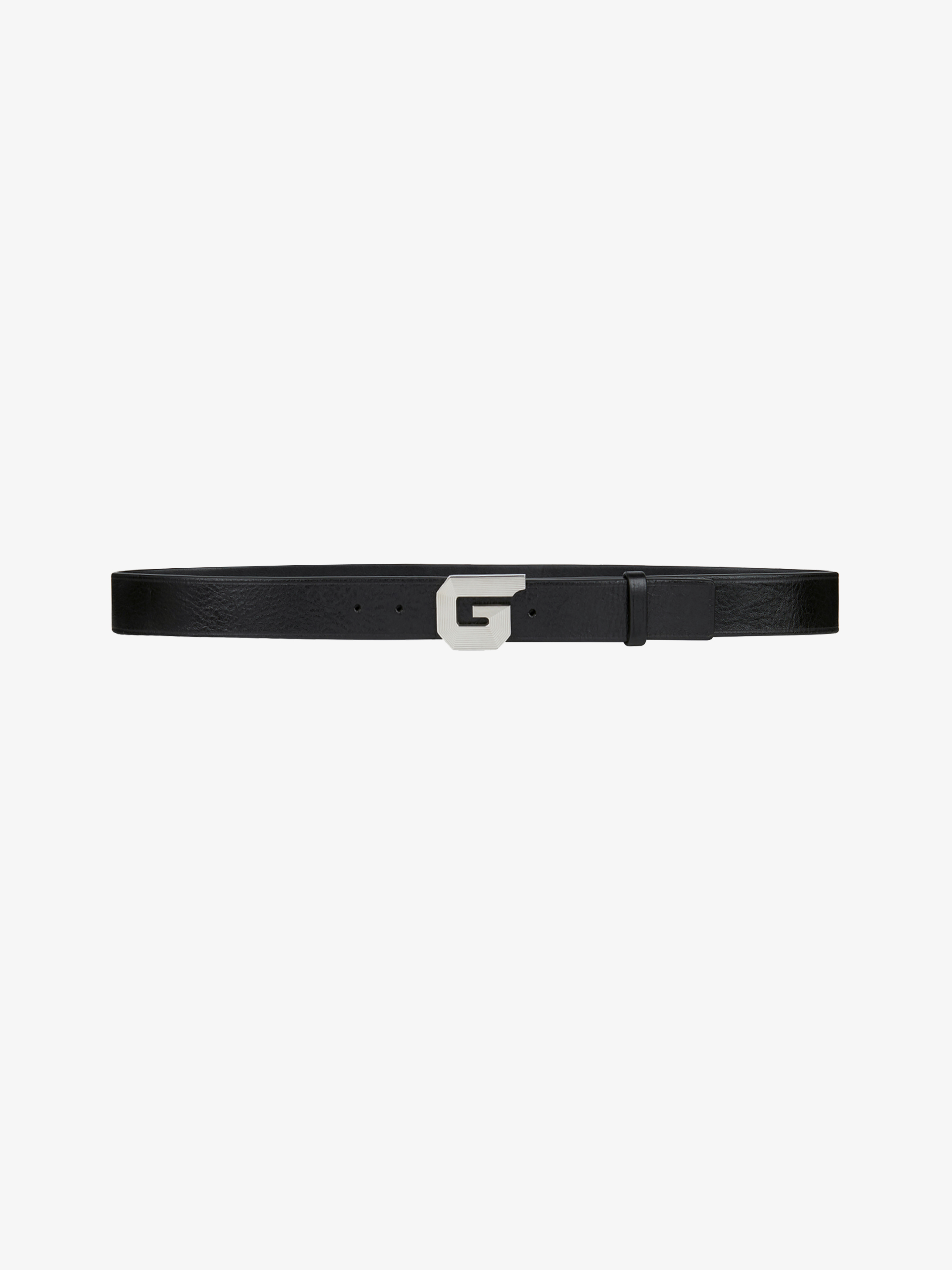 G whistle buckle belt in leather