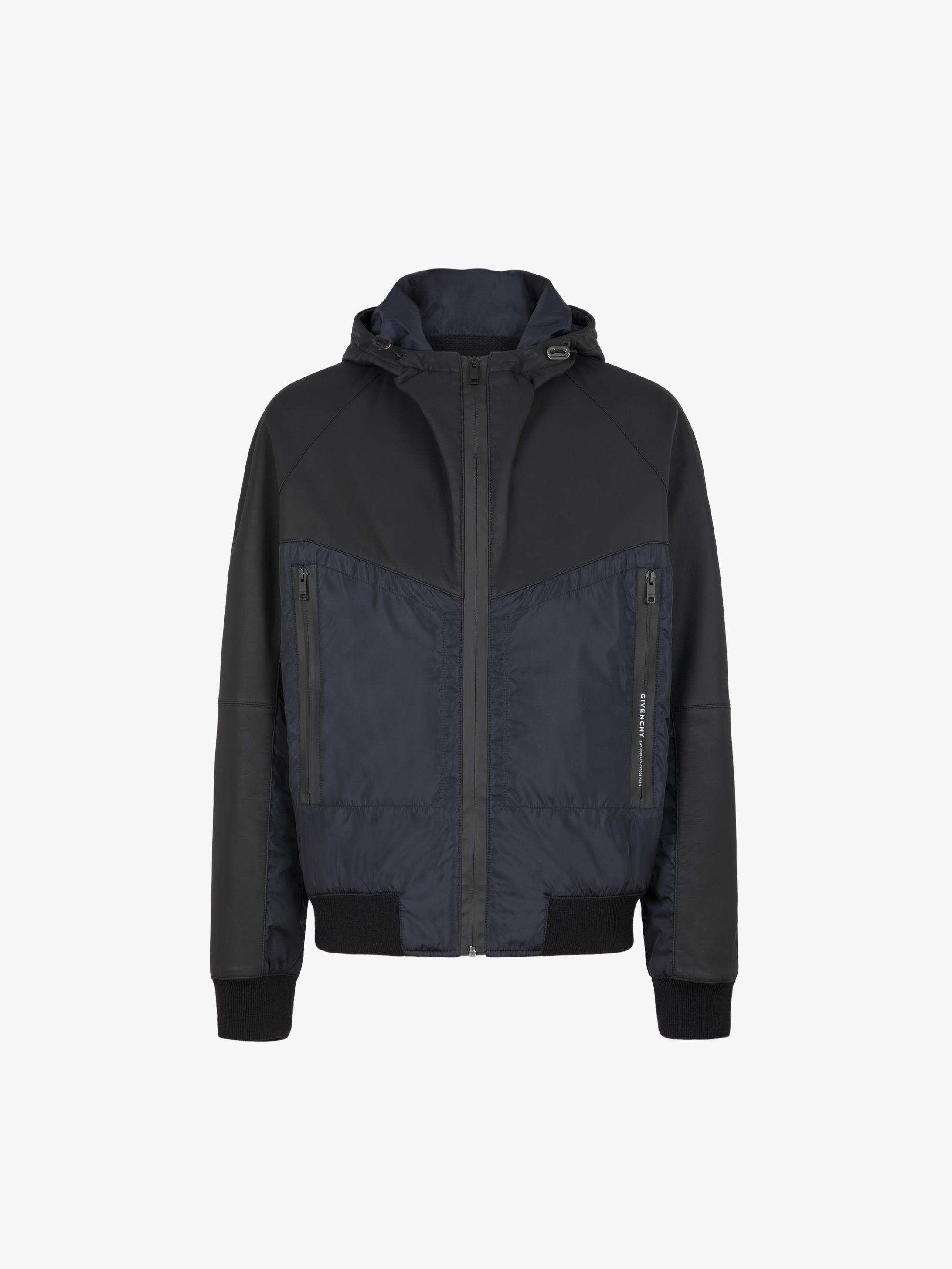GIVENCHY PARIS jacket in leather and nylon