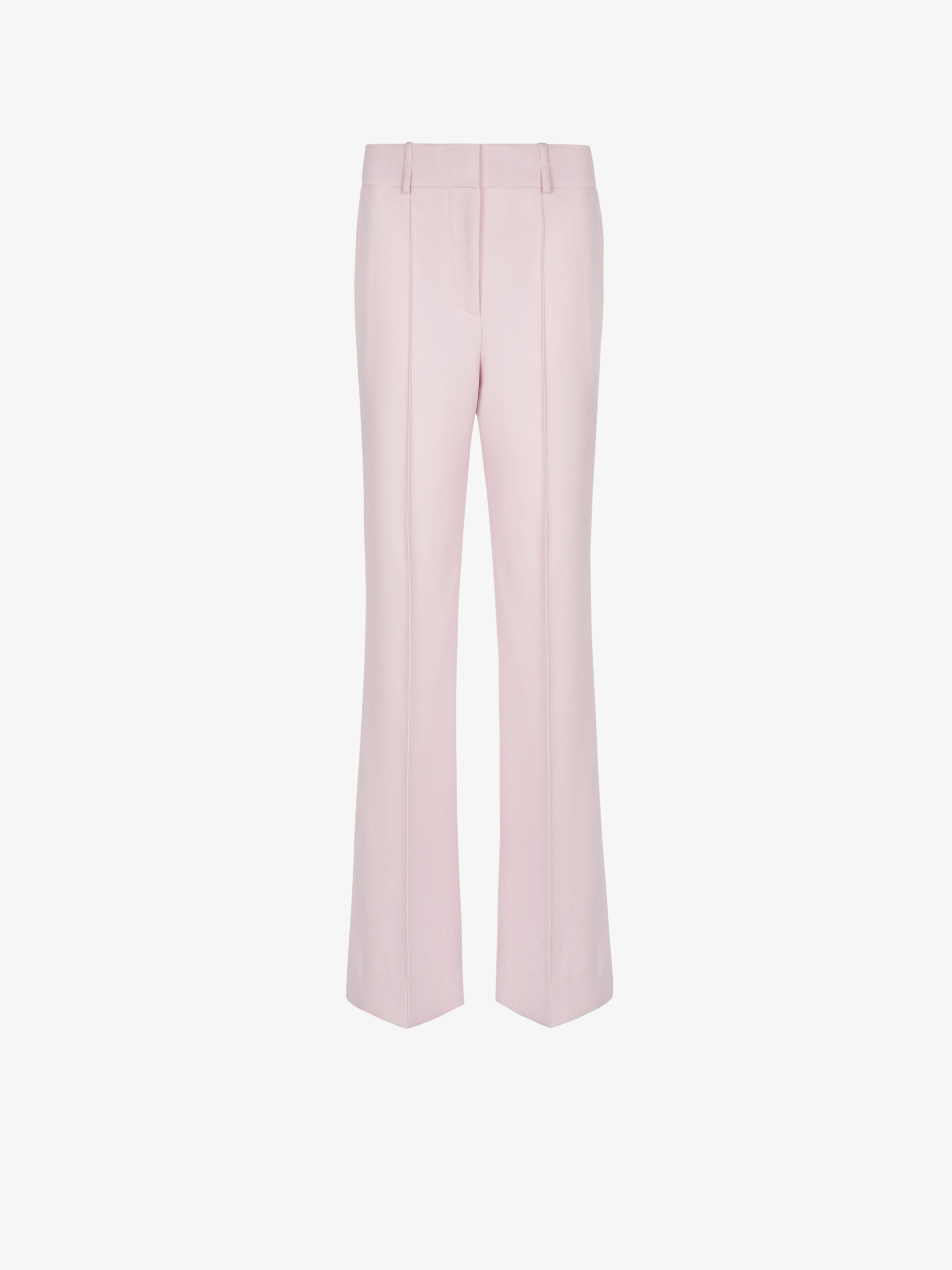 High waisted pants in drill wool