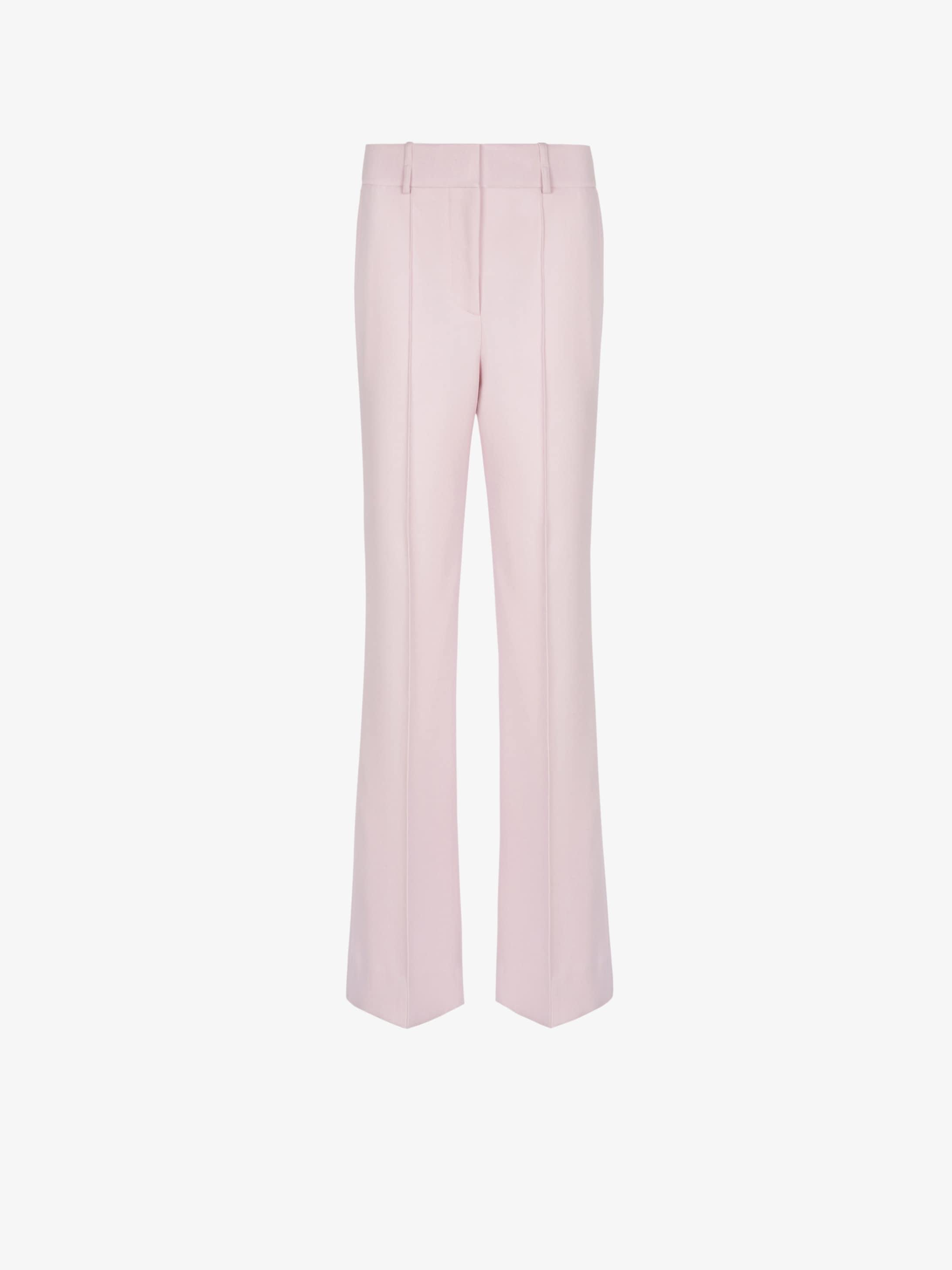 Pantaloni a vita alta in drill di lana