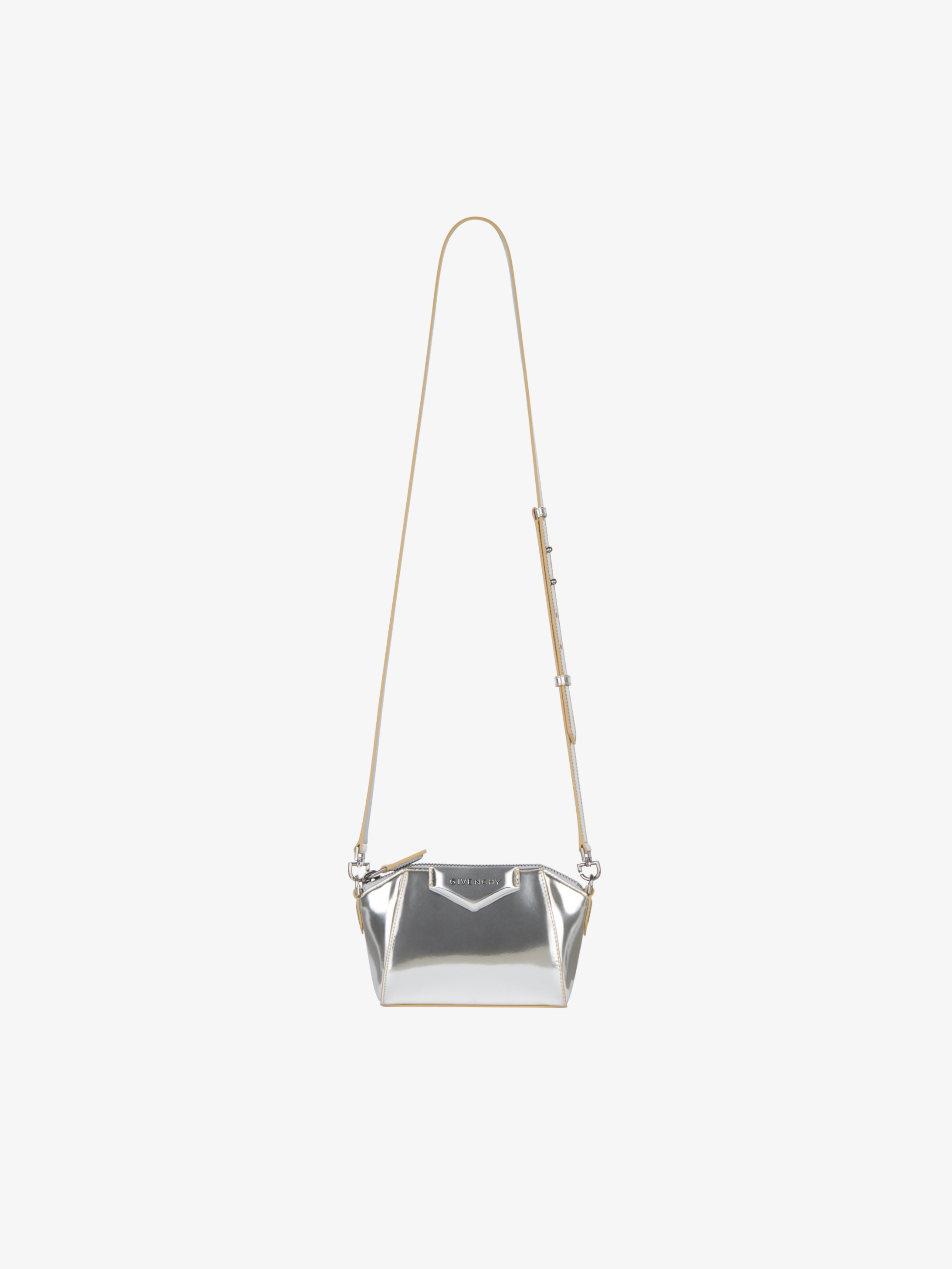 Nano Antigona bag in metalized leather