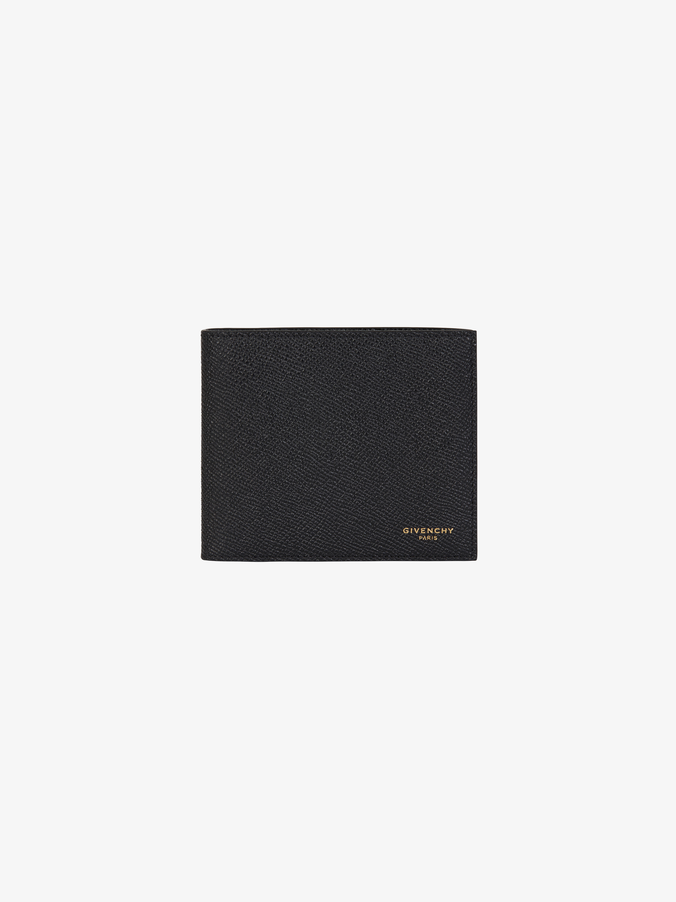 Wallet in grained leather
