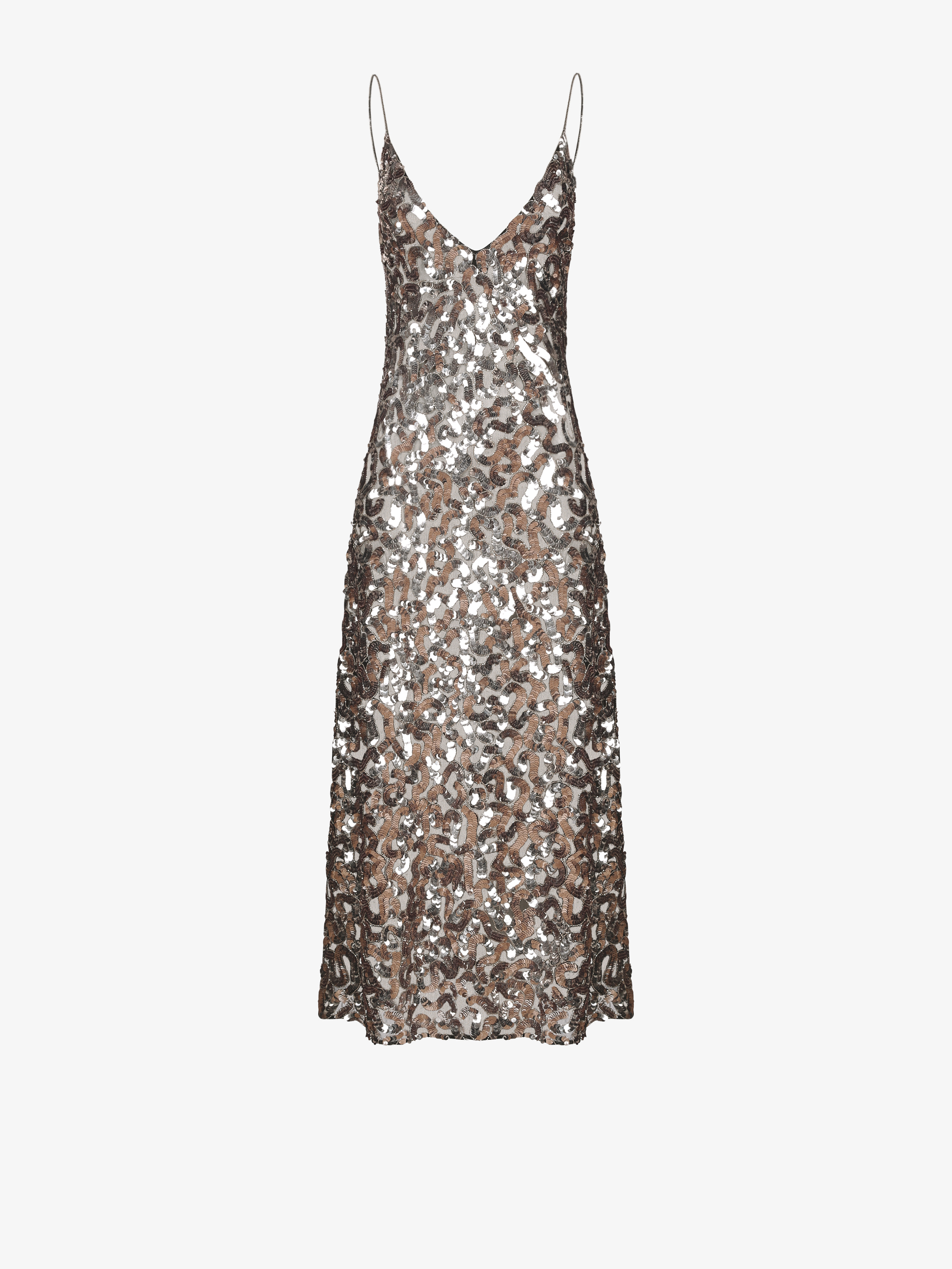 Sequins embroidered evening dress